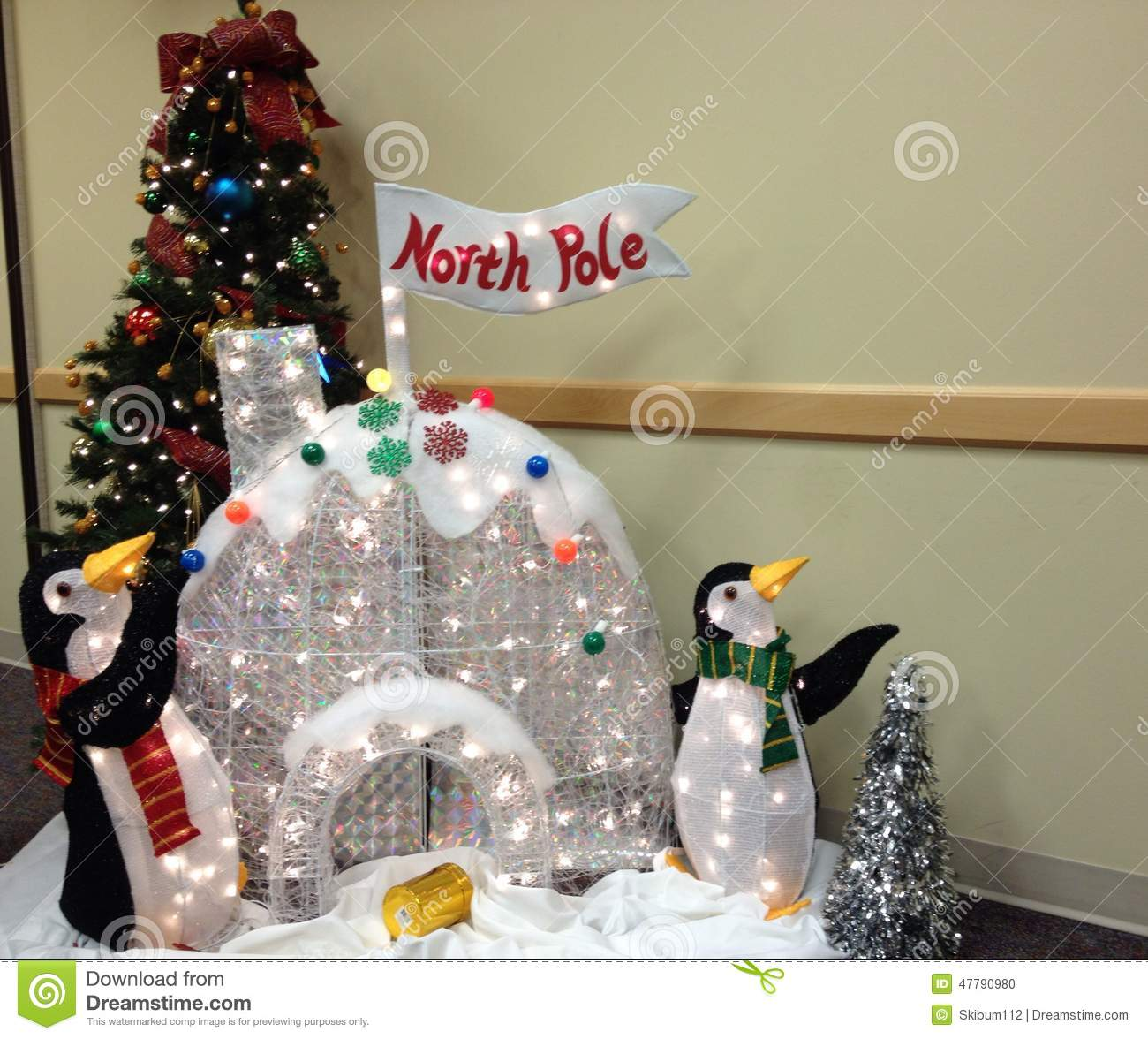 christmas penguin decorations for