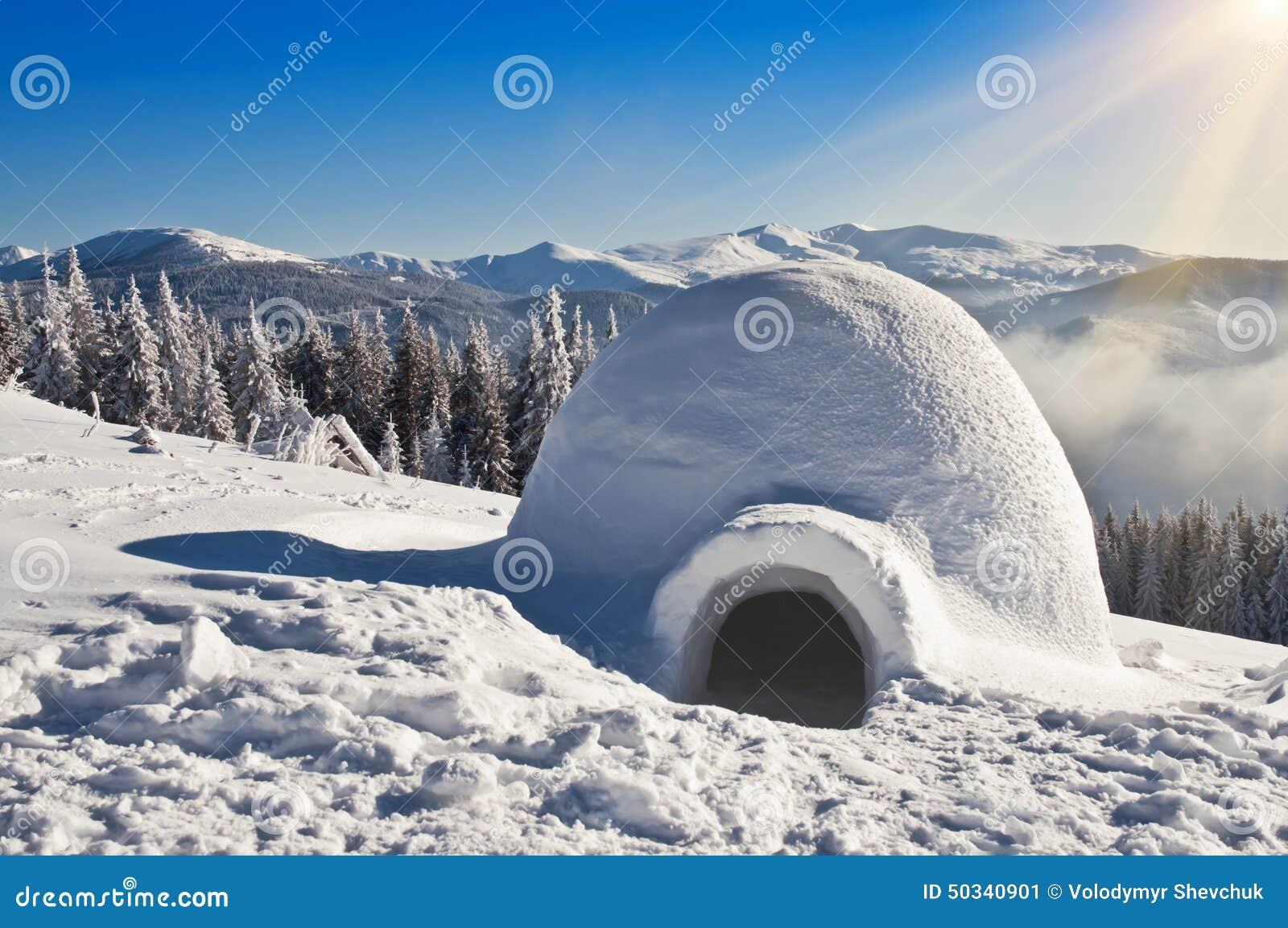 Igloo On The Snow Stock Image. Image Of Background, Igloo