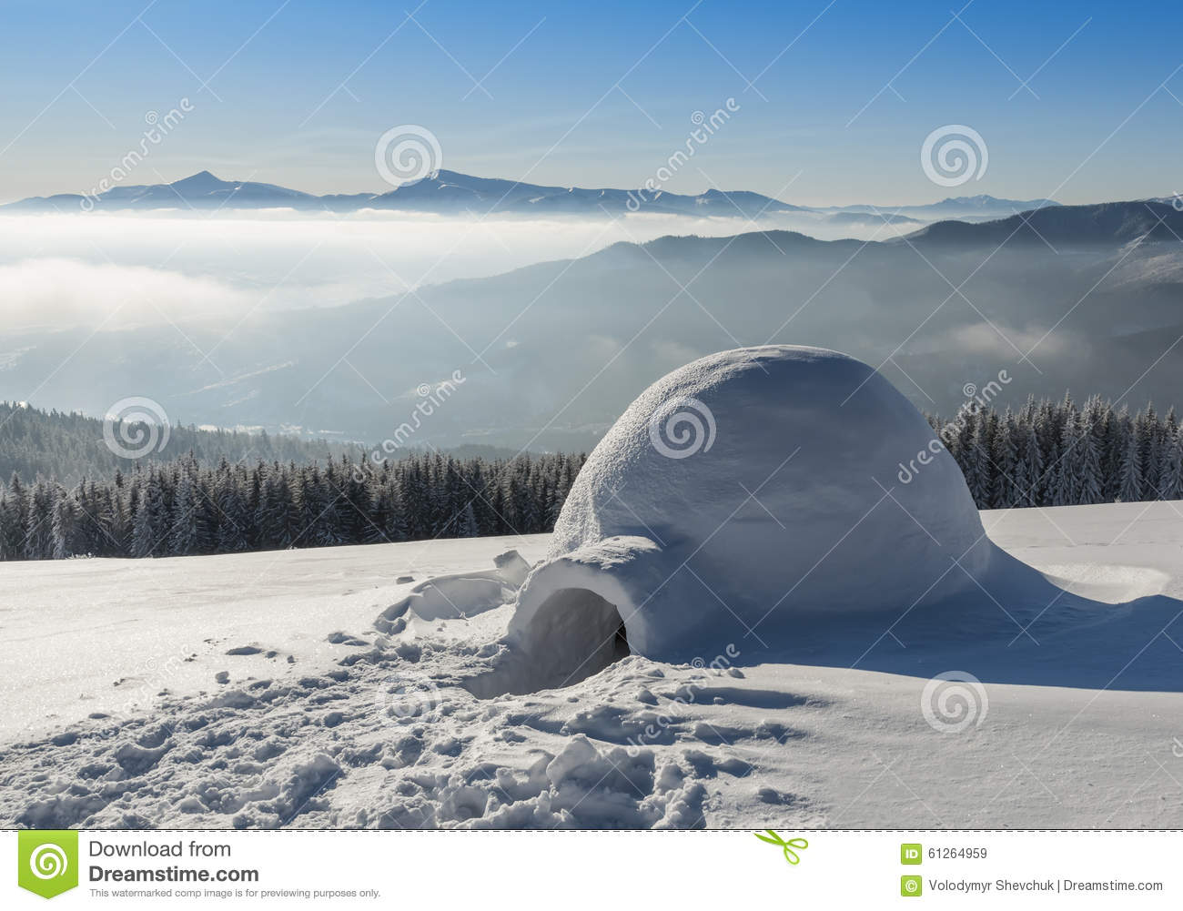 Igloo On The Snow Stock Image Of European Made