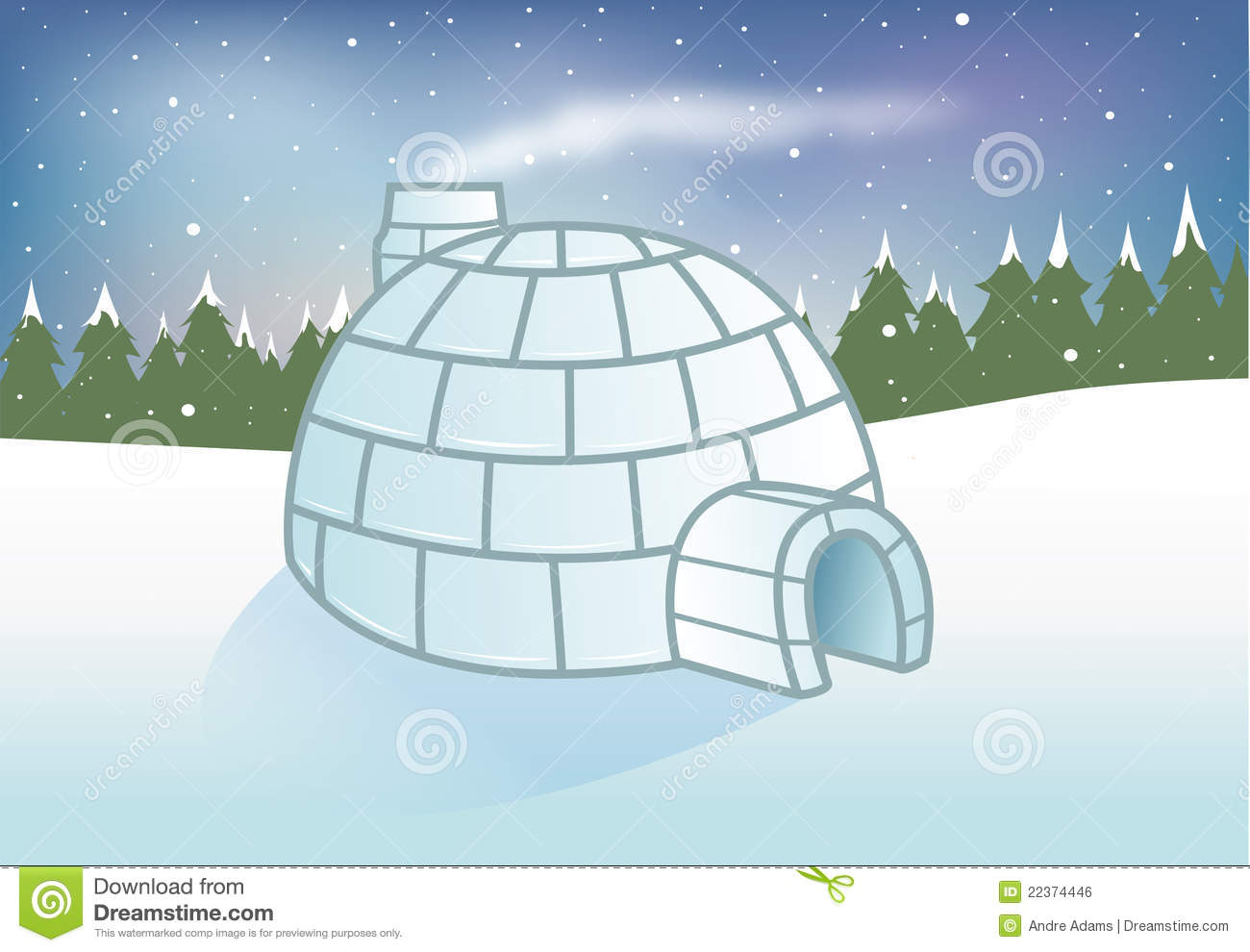 Igloo Snowy Background Royalty Free Stock Image