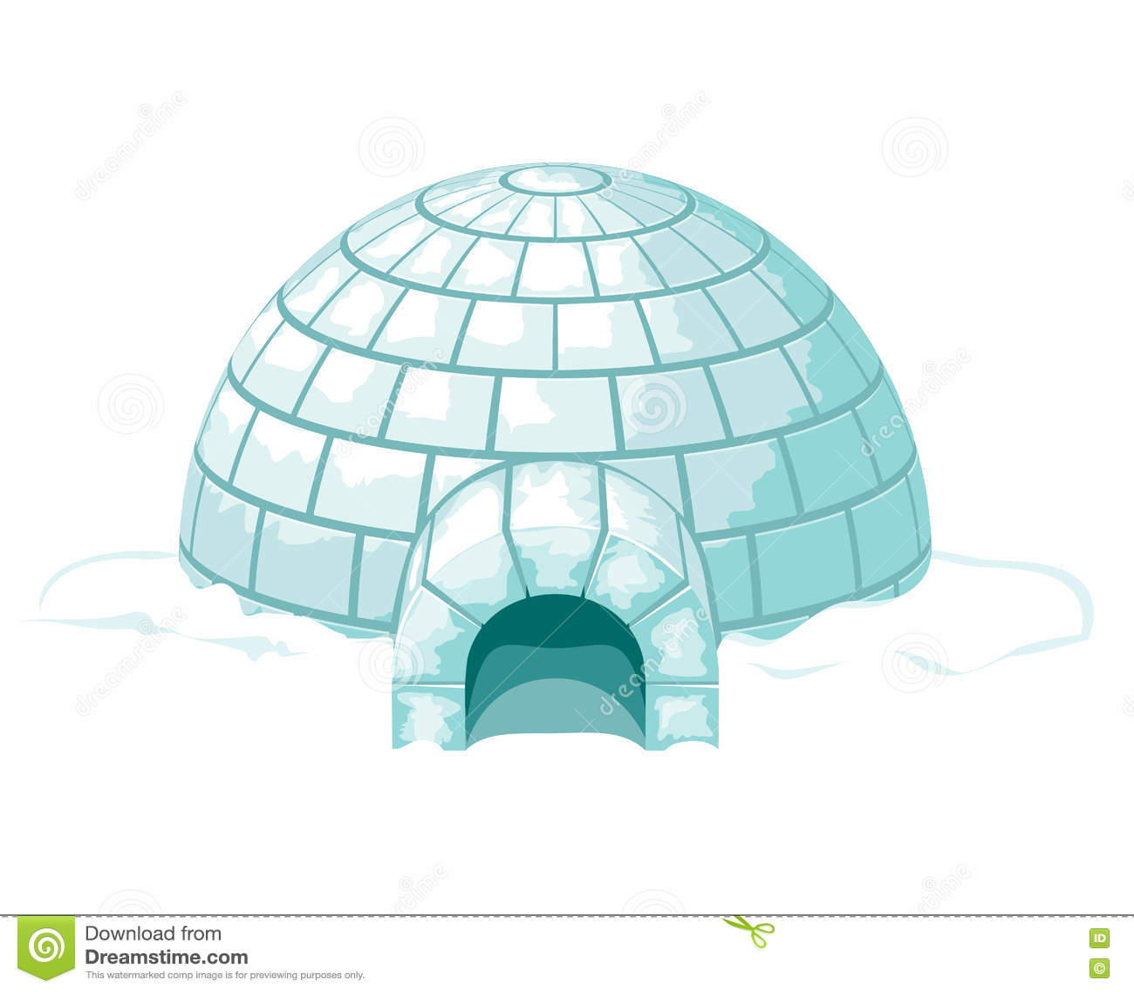 Iglu Eisige kalte Ausgangs- oder Eishausvektorillustration
