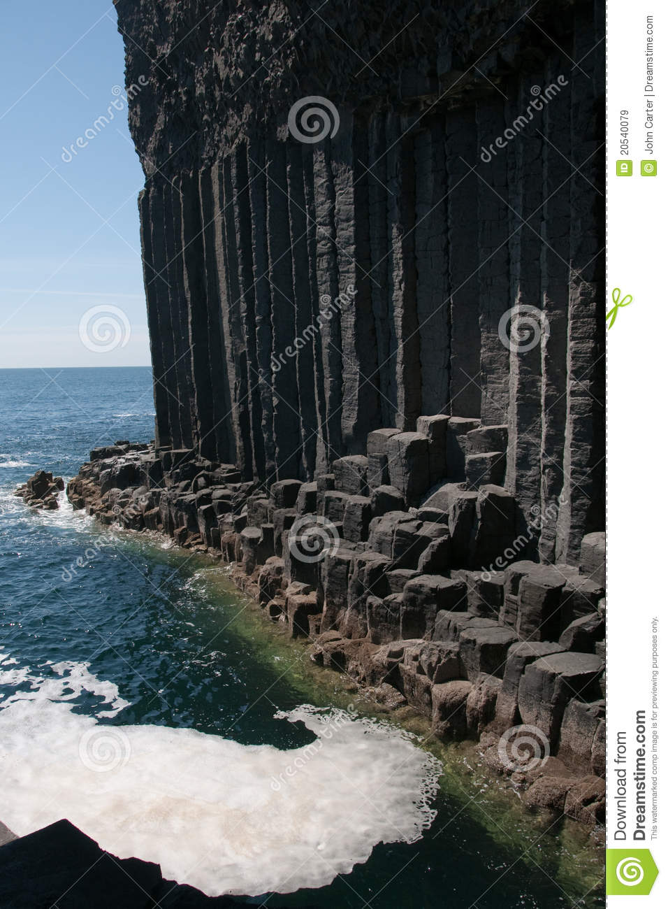 Igneous Rock At The Entrance To Fingals Cave Stock Image Image