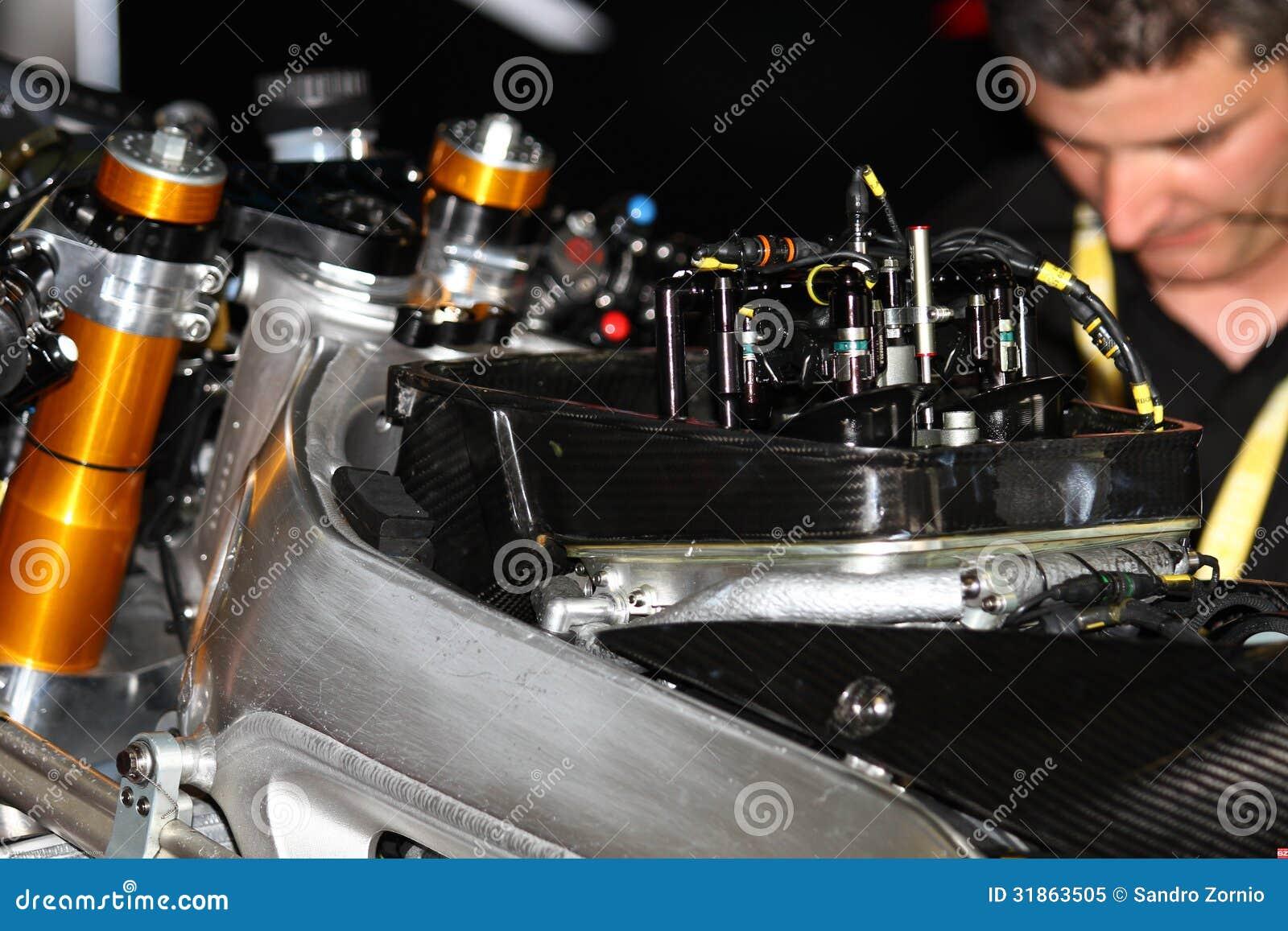 Ignition and front suspension Aprilia RSV4 1000 Factory Superbike WSBK