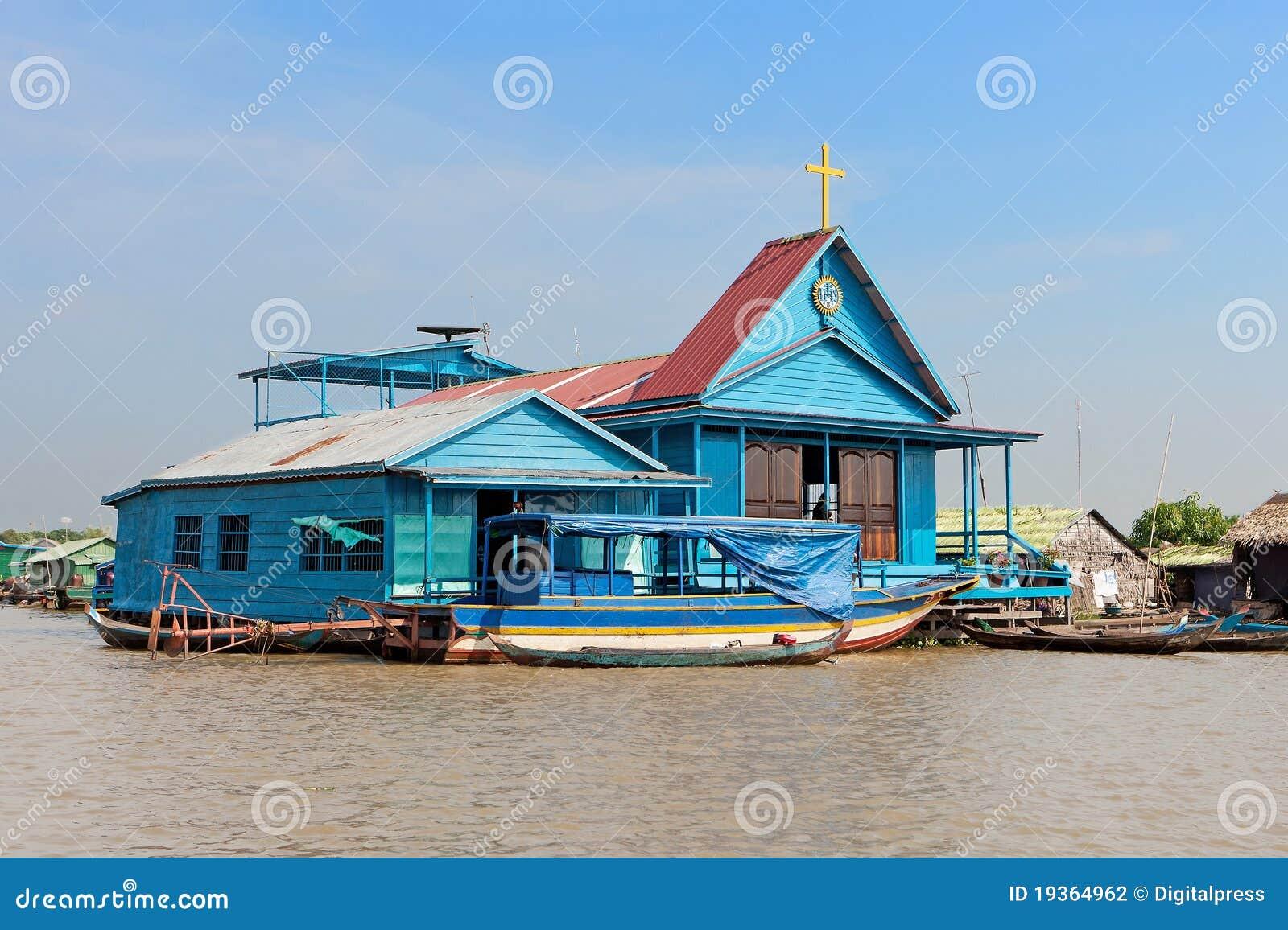 Igreja azul nadadora