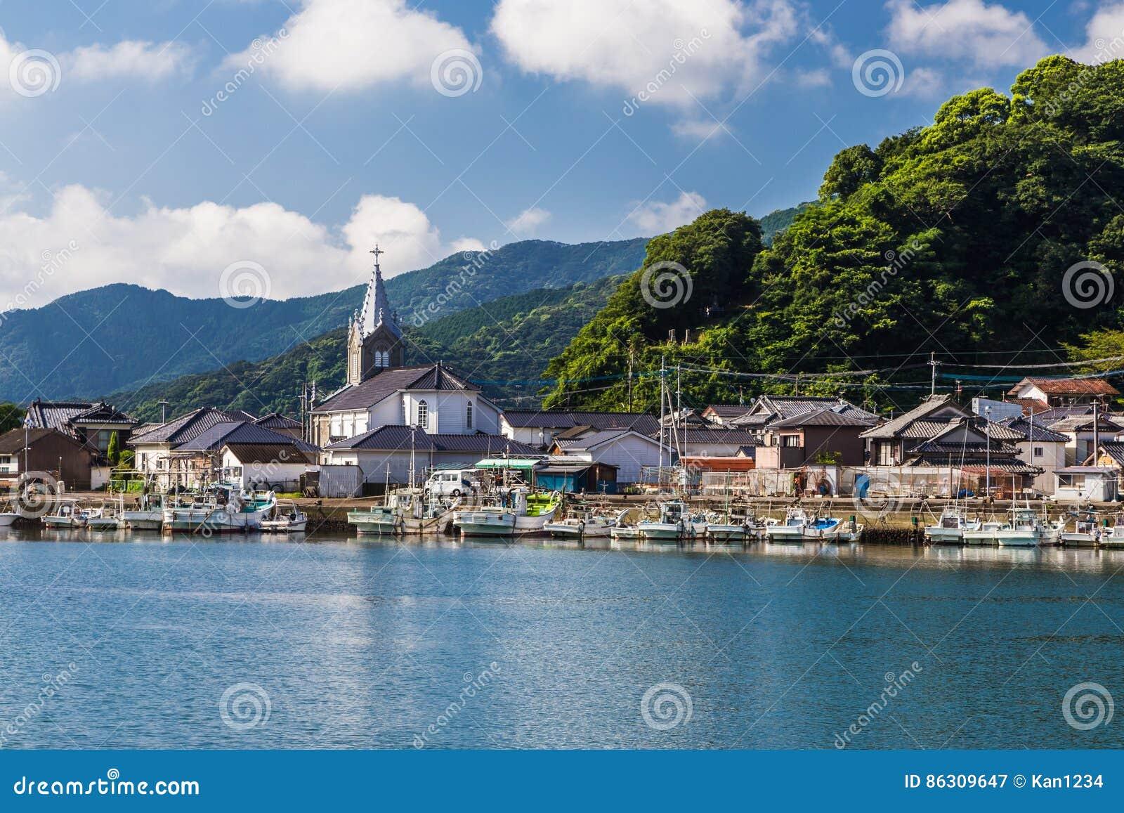 Igreja bonita de Sakitsu em Amakusa, Kyushu, Japão