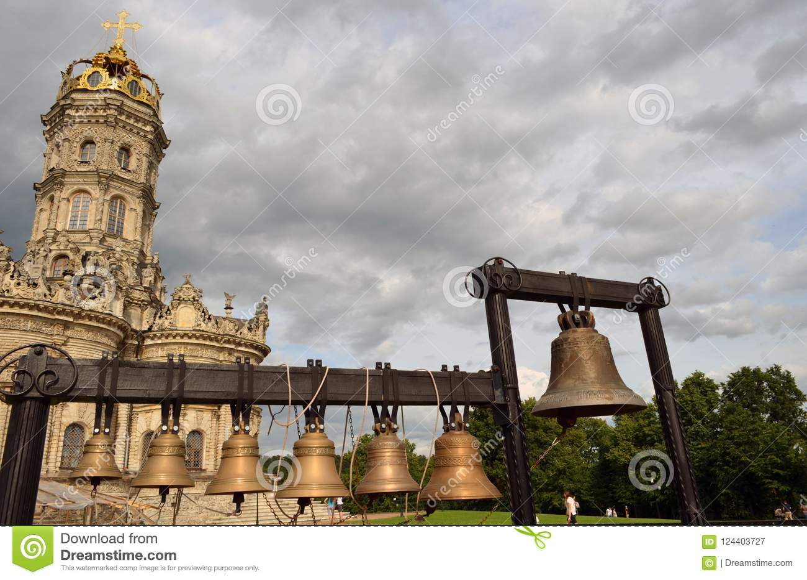 Igreja da igreja abençoada do Virgin do sinal em Dubrovitsy, Podolsk, região de Moscou, Rússia