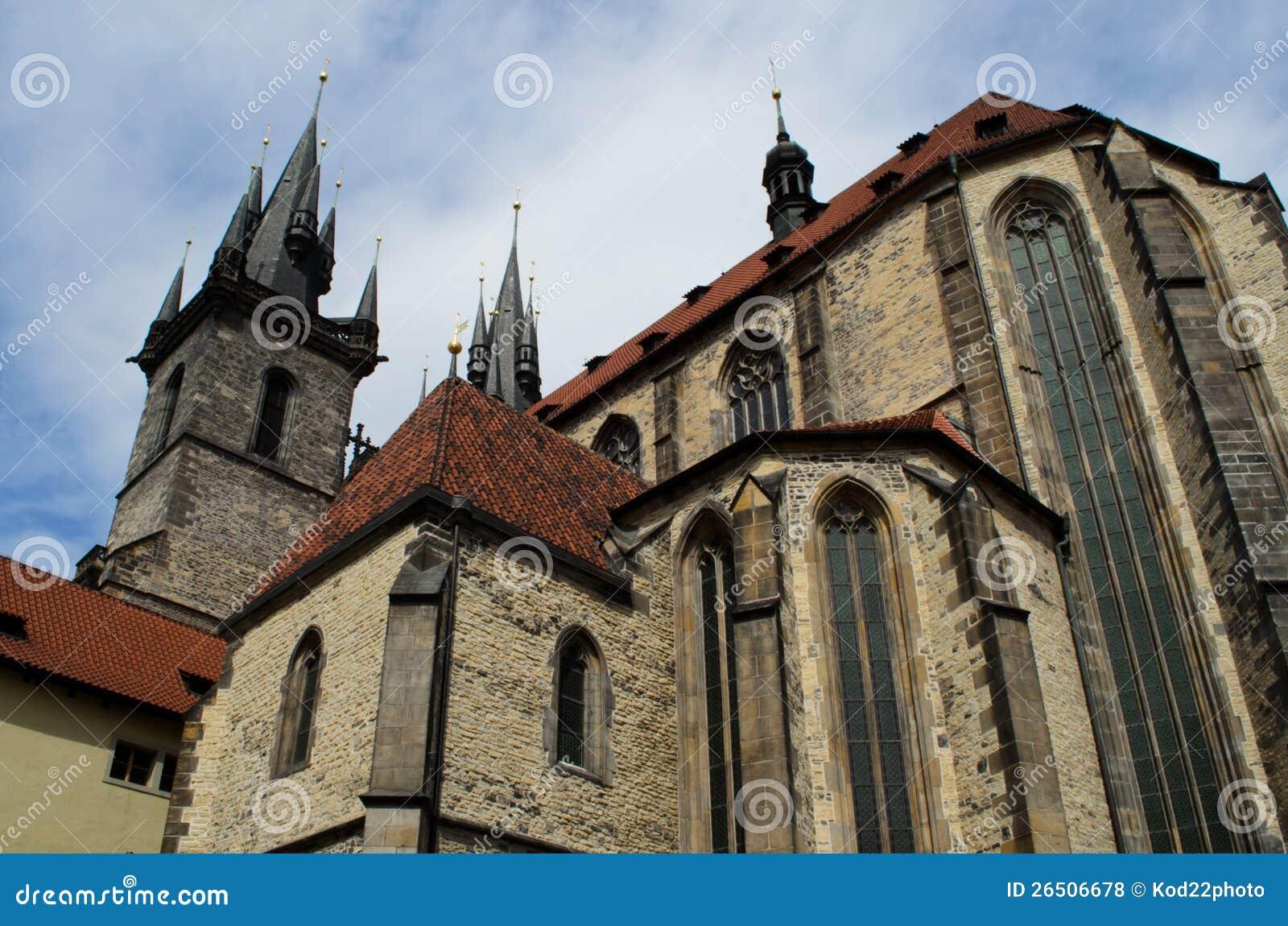 Igreja de nossa senhora em Praga, república checa