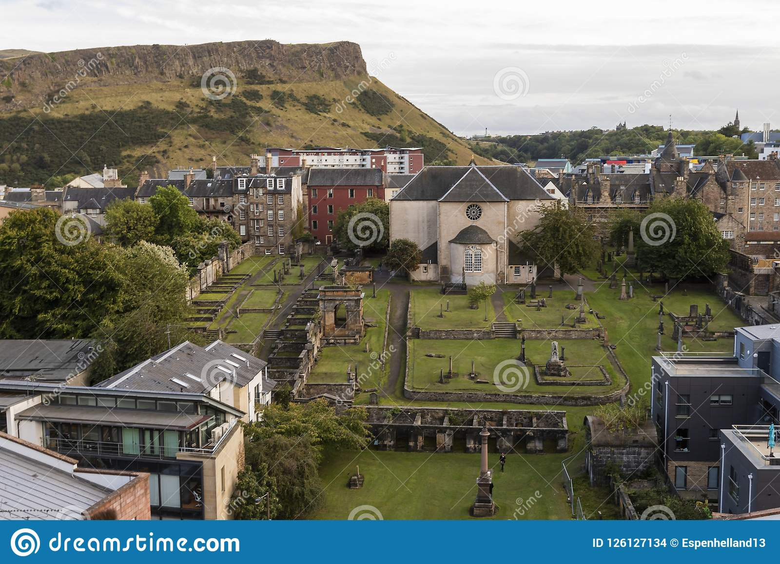 Igreja de presbyterian do kirk de Canongate na milha real Edimburgo