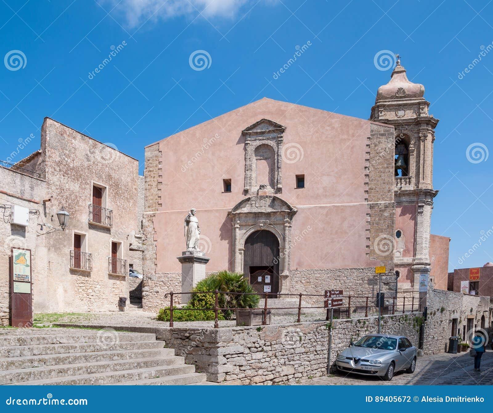 A igreja de San Giuliano, Sicília, Itália