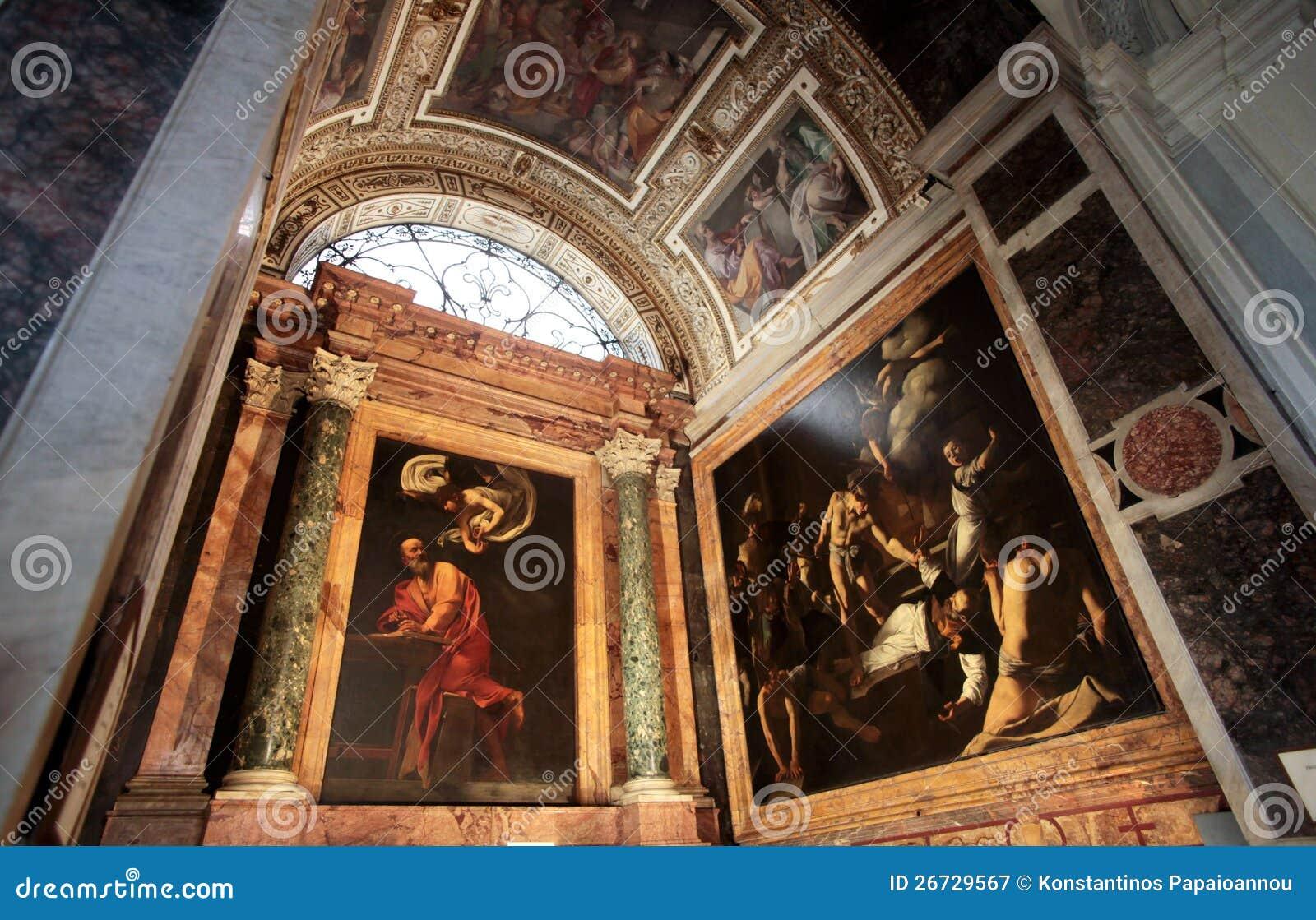 A igreja de St Louis do francês em Roma