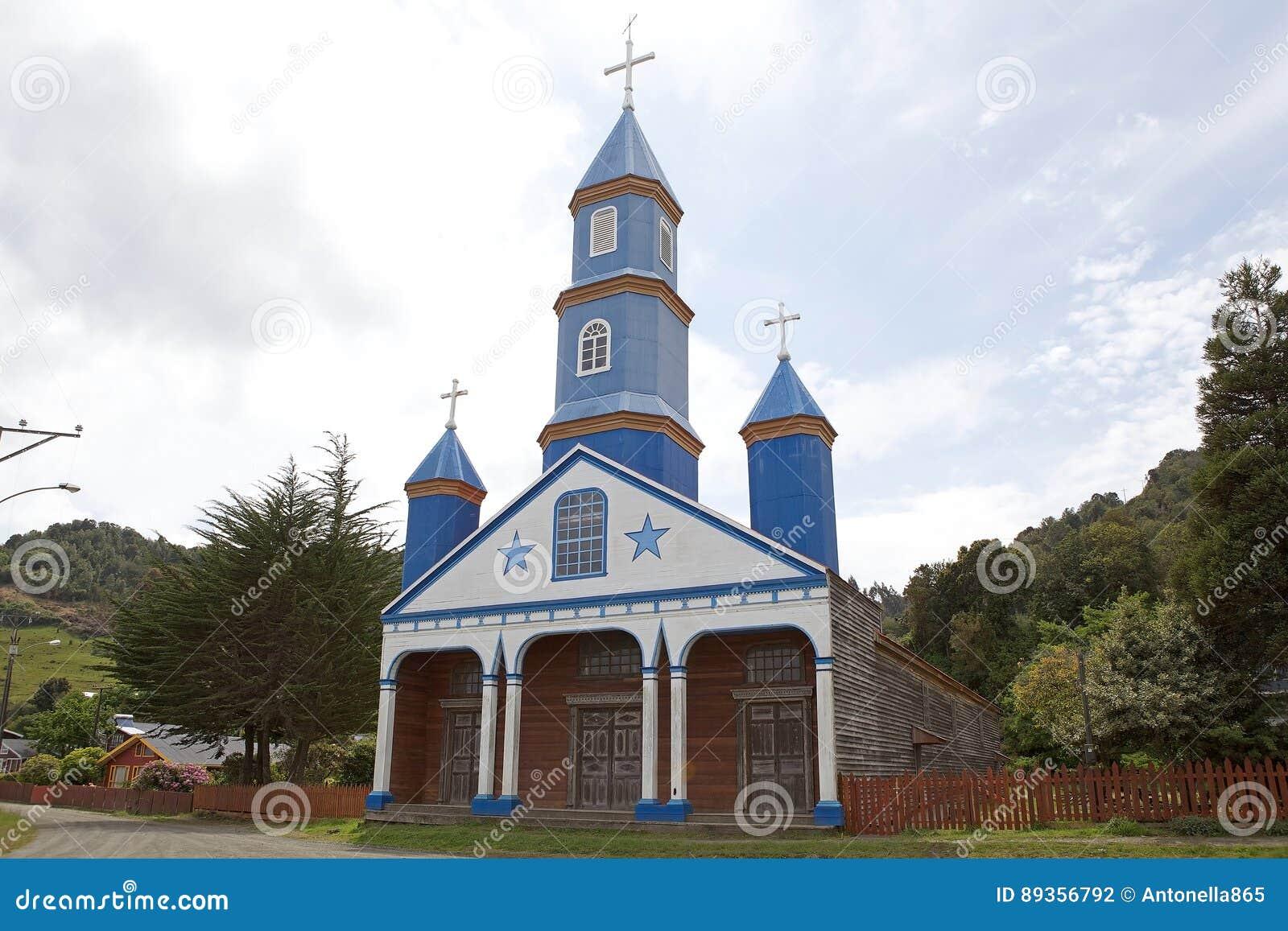 Igreja de Tenaun, ilha de Chiloe, o Chile
