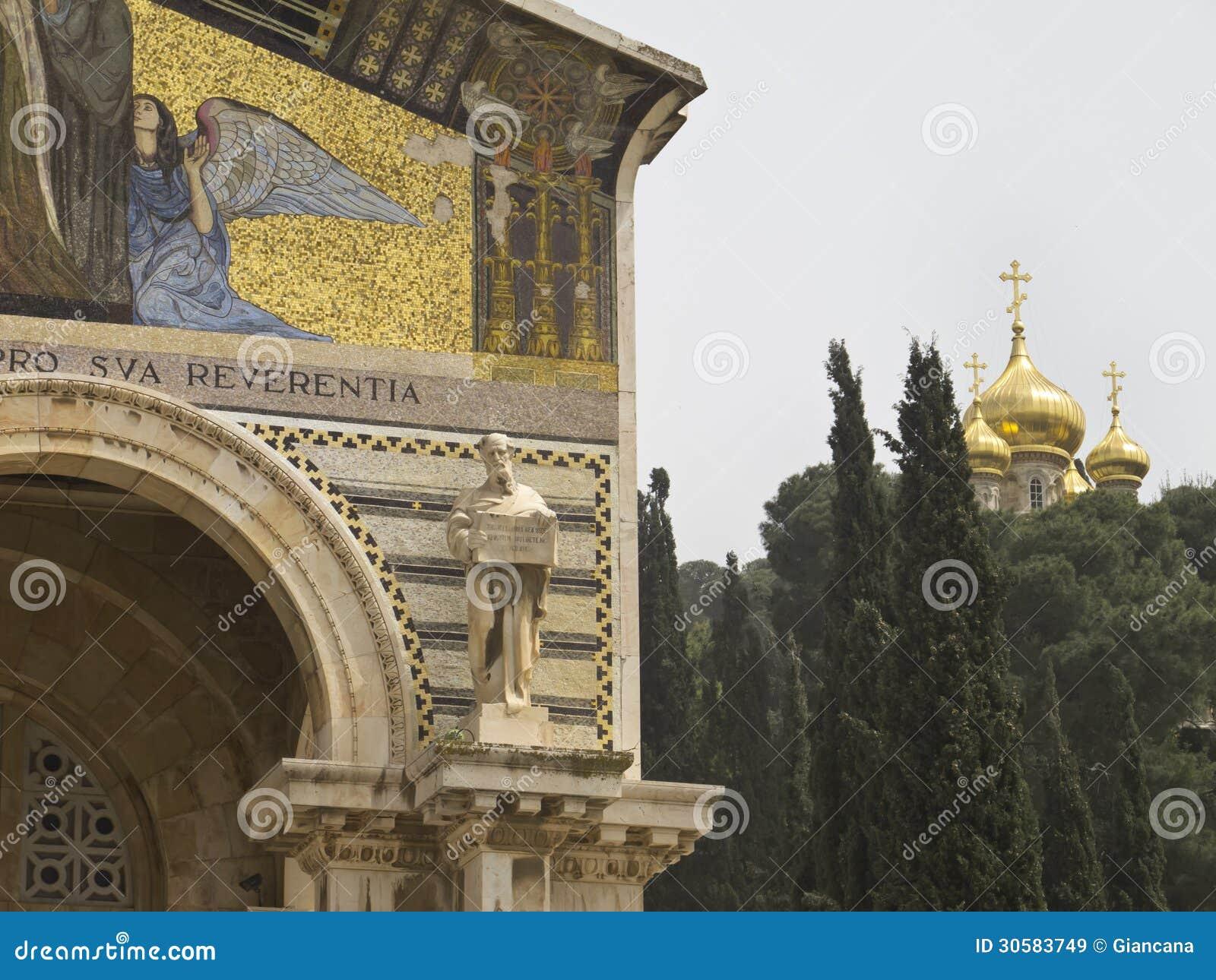 Igreja de todas as nações e igreja de Mary Magdalene
