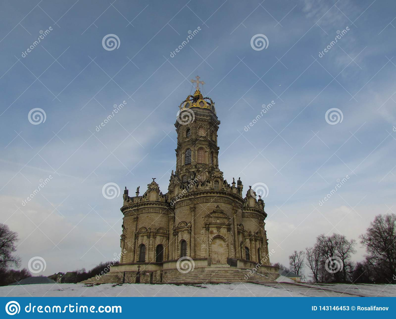Igreja de Znamenskaya em Dubrovitsy