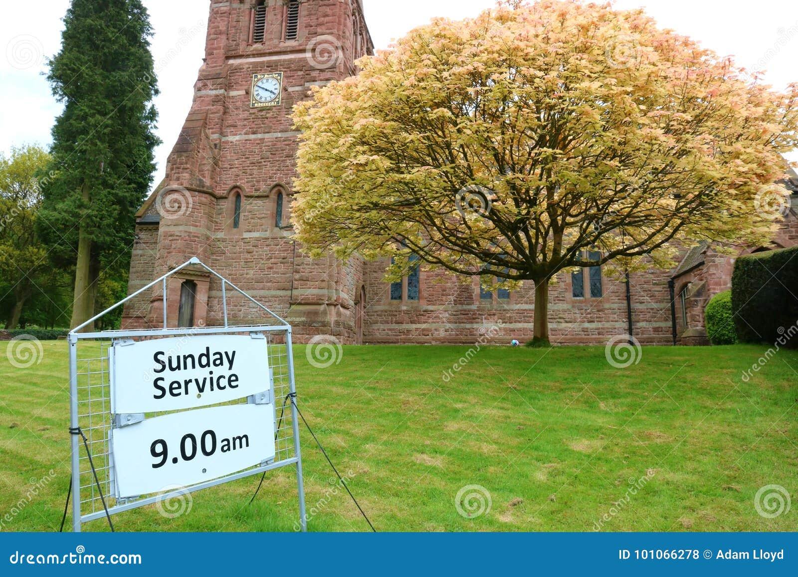 Igreja e sinal do serviço