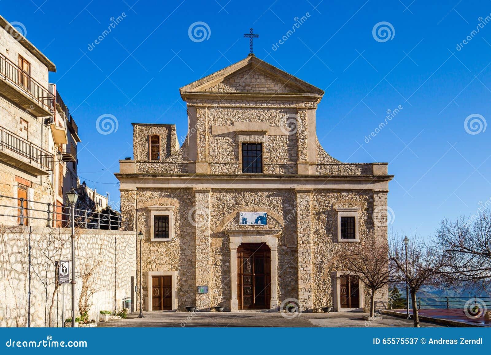 Igreja em Cammarata, Sicília, Itália