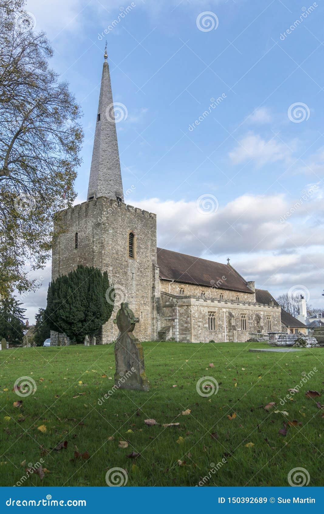 Igreja em Malling ocidental, Kent, Reino Unido