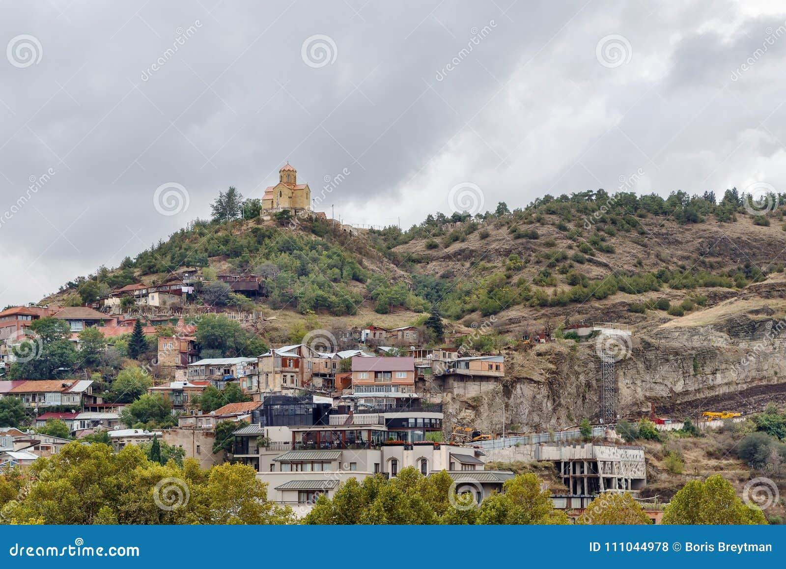 Igreja em um monte, Tbilisi, Geórgia