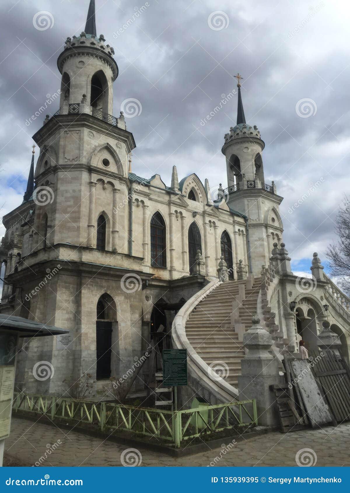 A igreja gótico do ícone de Vladimir da mãe do deus