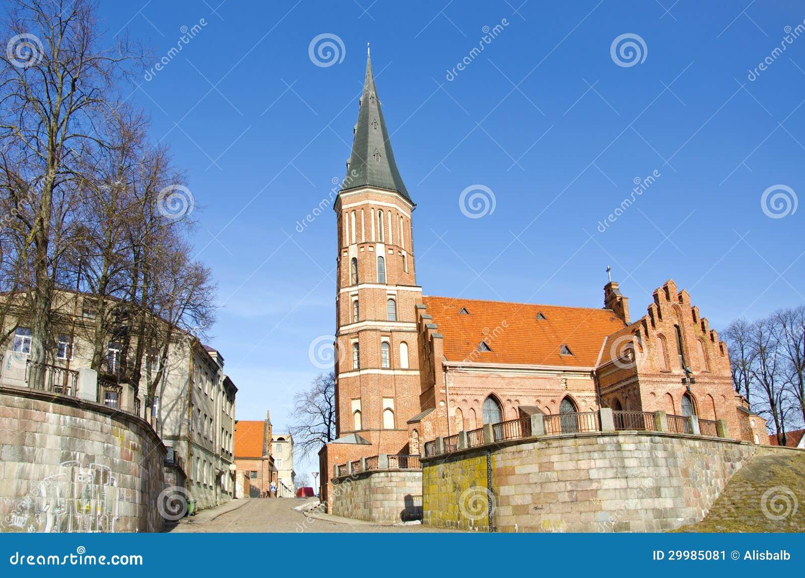 Igreja histórica de Vytautas em Kaunas, Lithuania