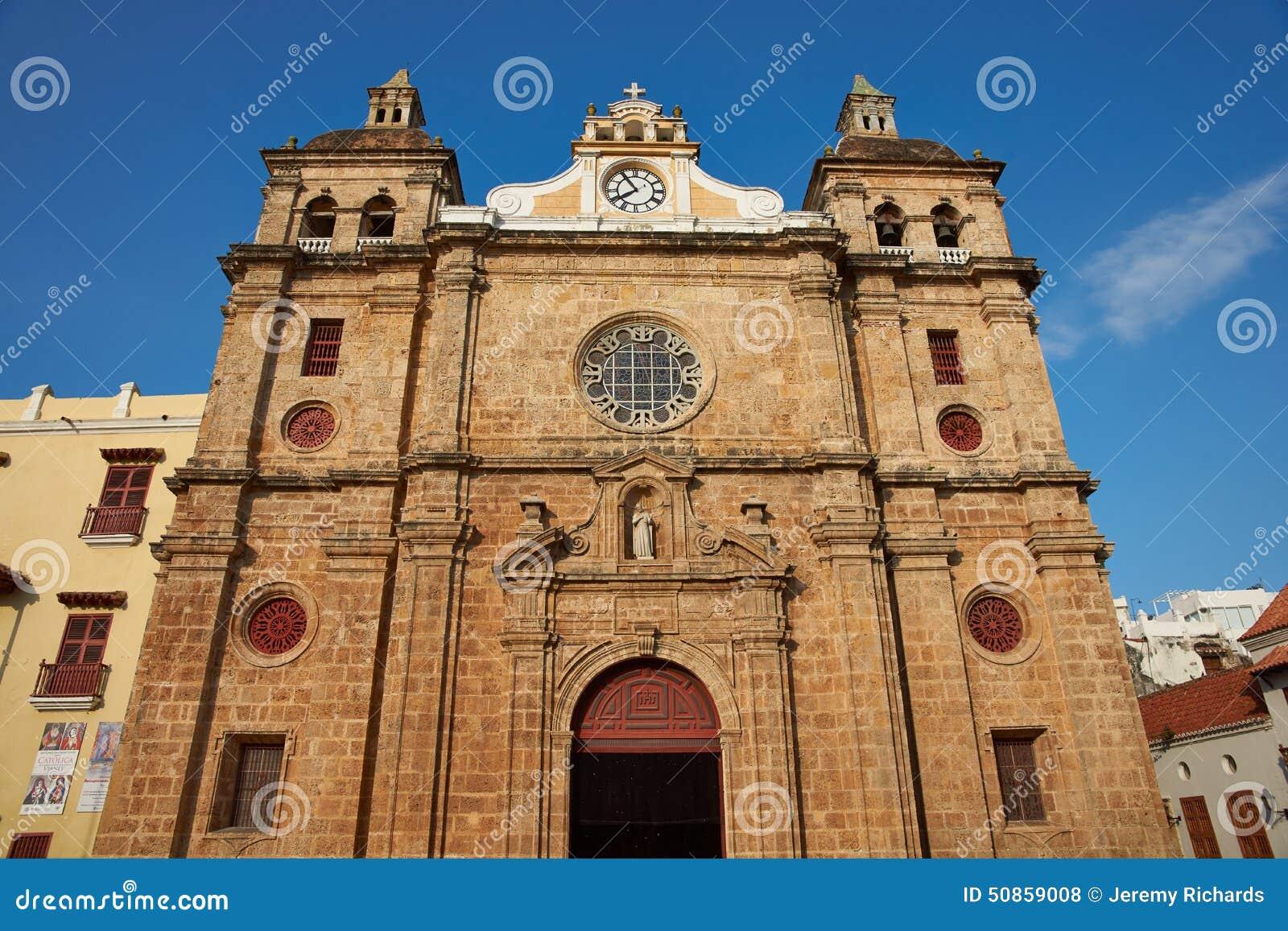 Igreja histórica em Cartagena