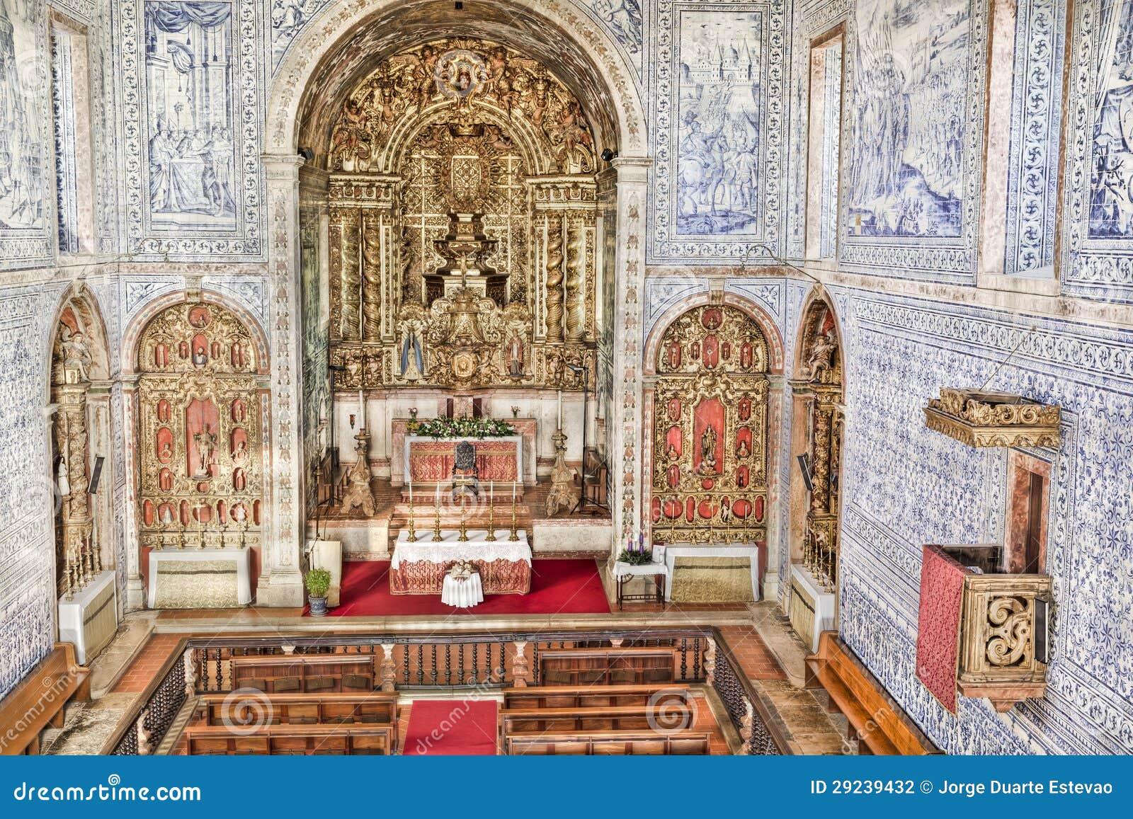 Download Igreja Histórica Em Castro, Verde, O Alentejo, Portugal Foto de Stock - Imagem de christianity, altar: 29239432