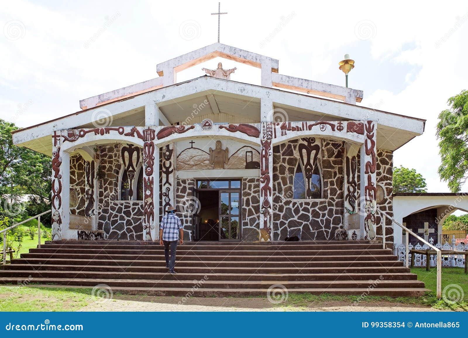 Igreja na Ilha de Páscoa, o Chile