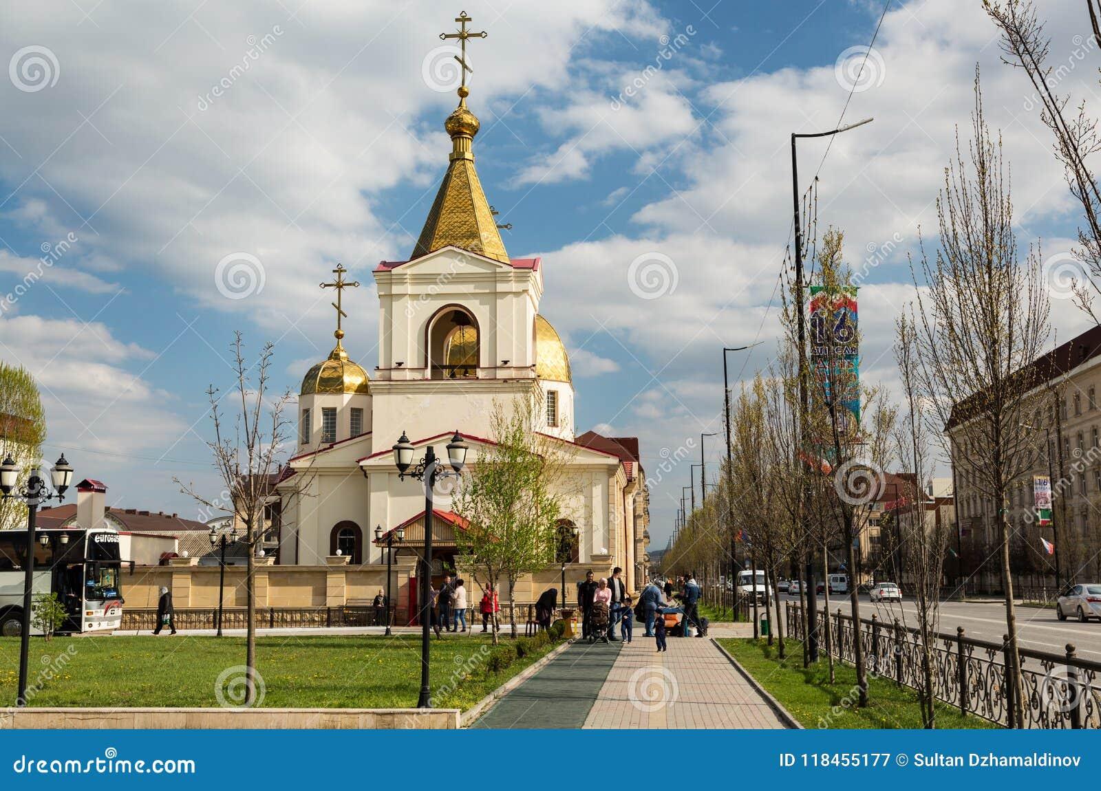 A igreja ortodoxa de Michael o arcanjo Grozny, Chechnya