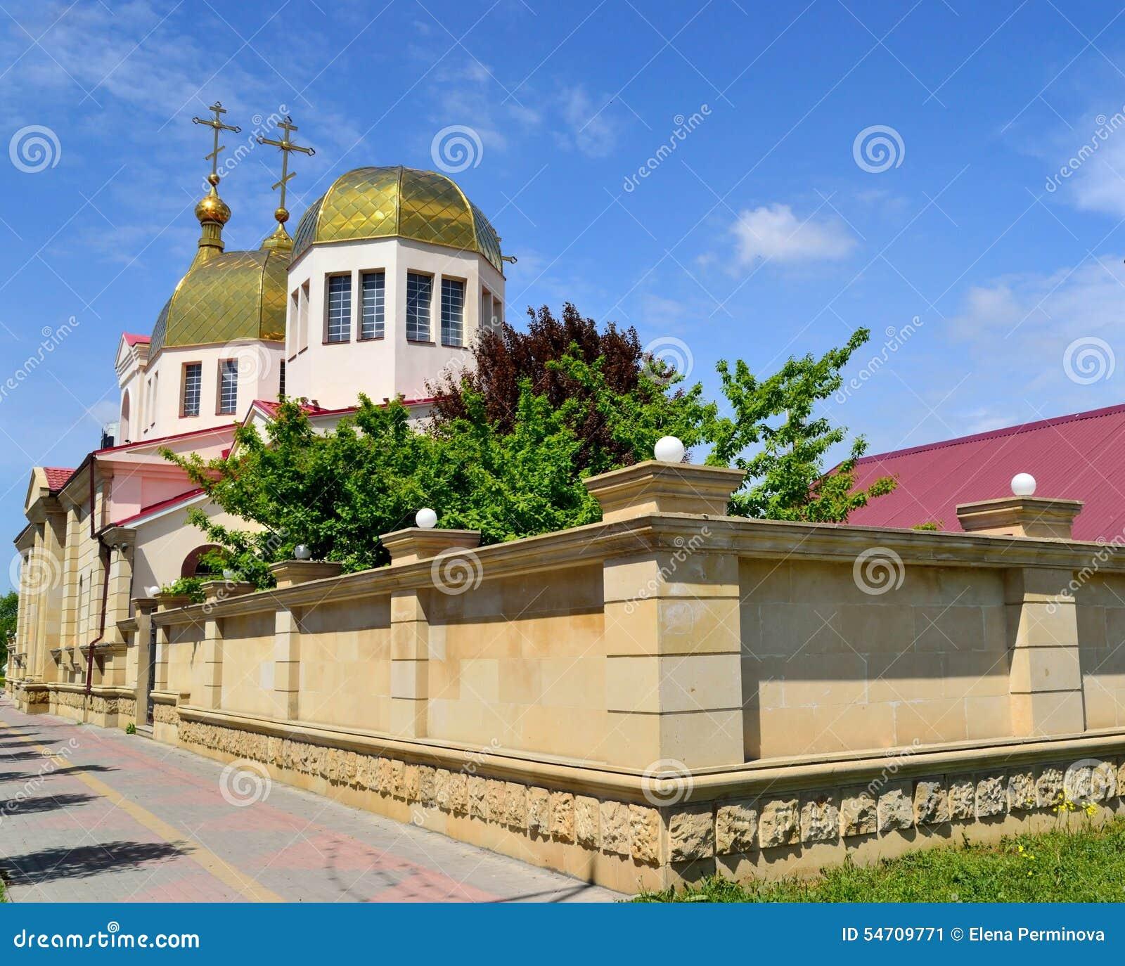 A igreja ortodoxa em Grozny