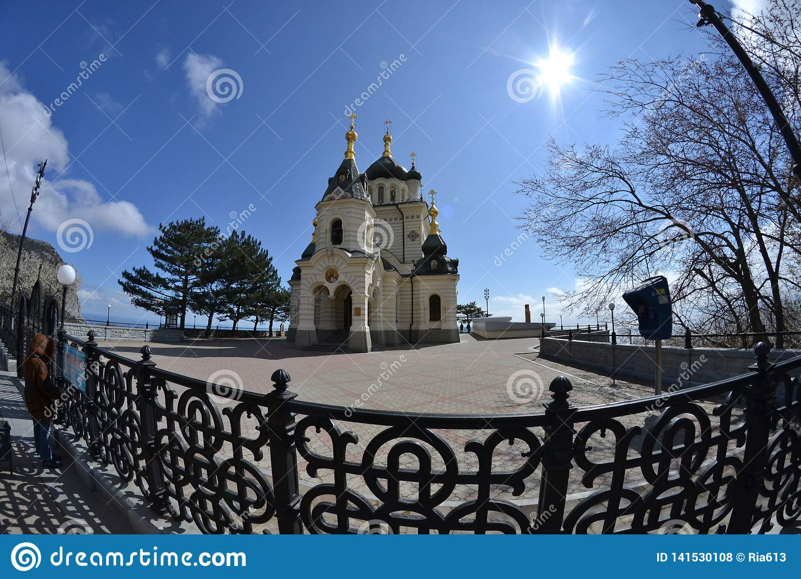 Igreja perto da vila de Foros crimeia