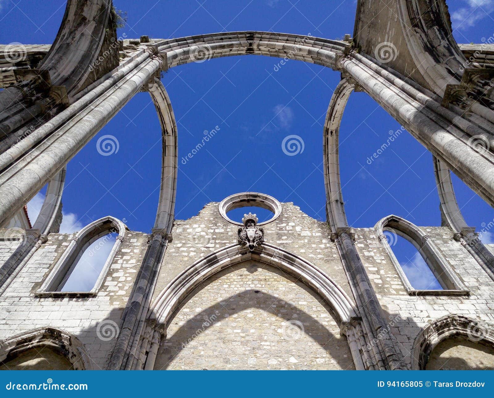 Igreja robi Carmo ruinom w Lisbon