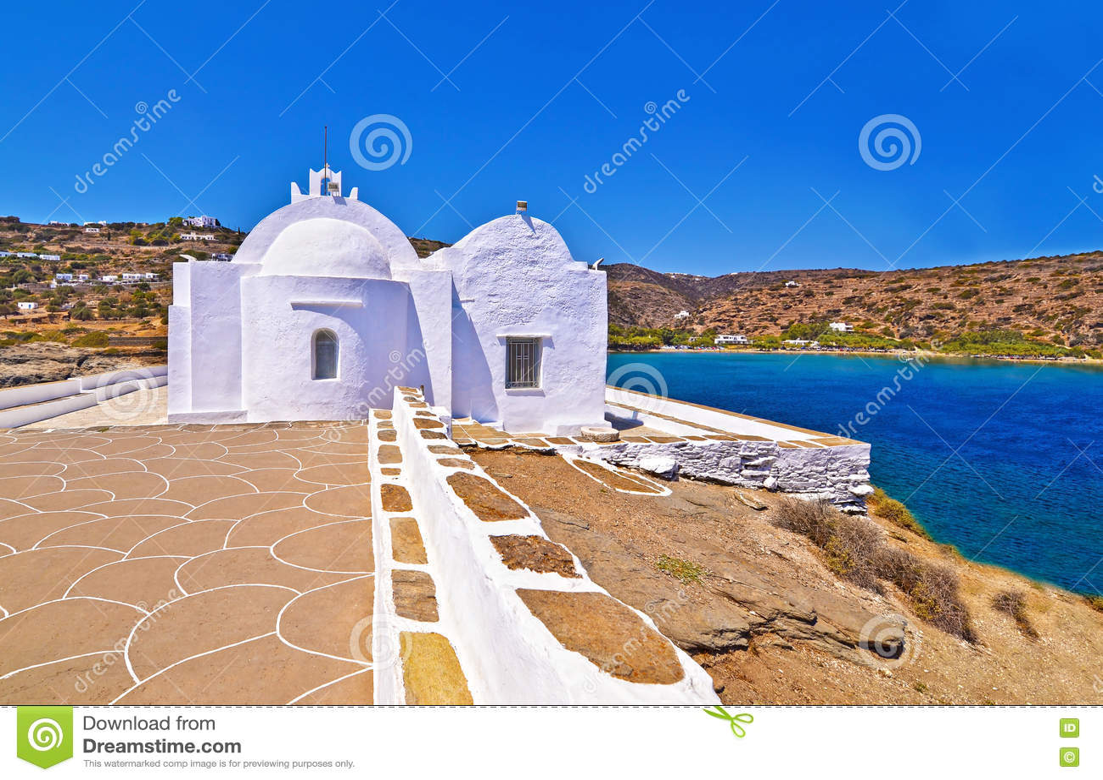 Igreja Sifnos Grécia de Panaghia Chrisopigi