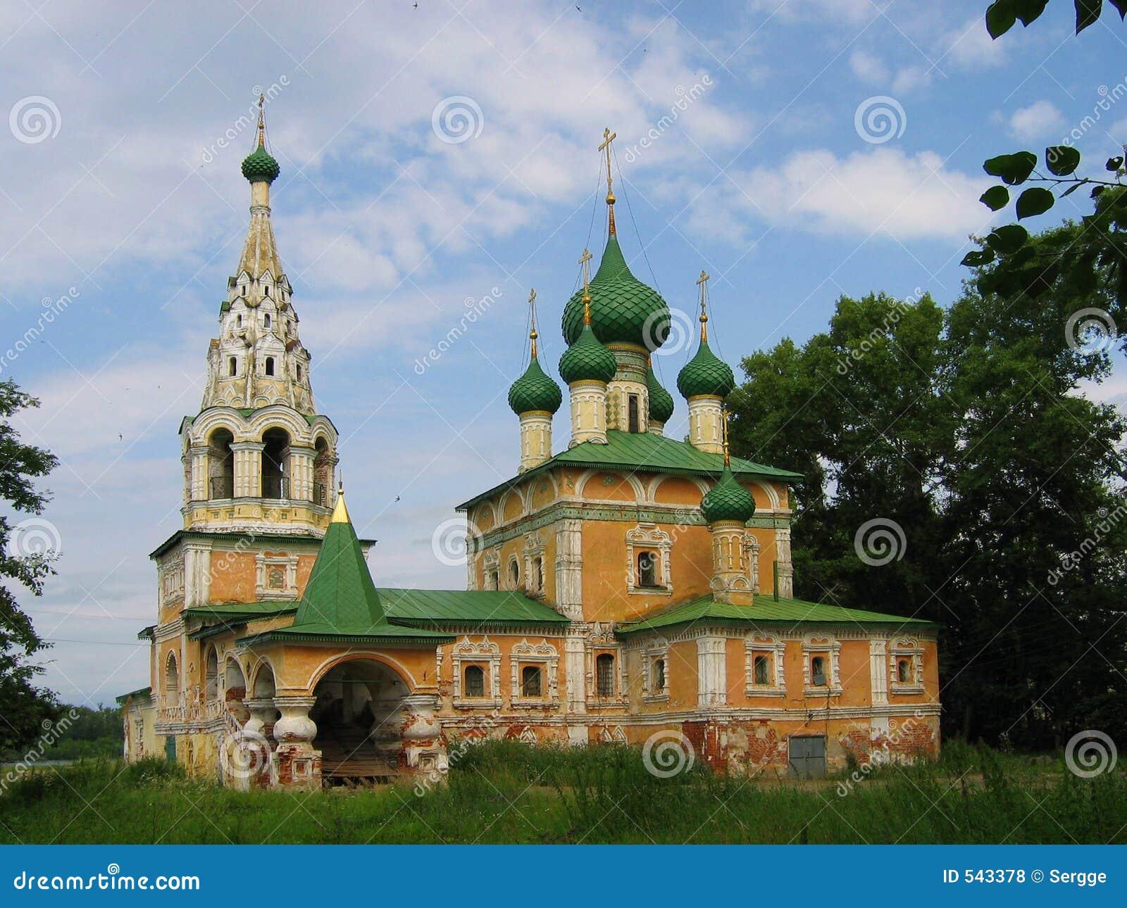 Igreja velha em Uglich, Rússia