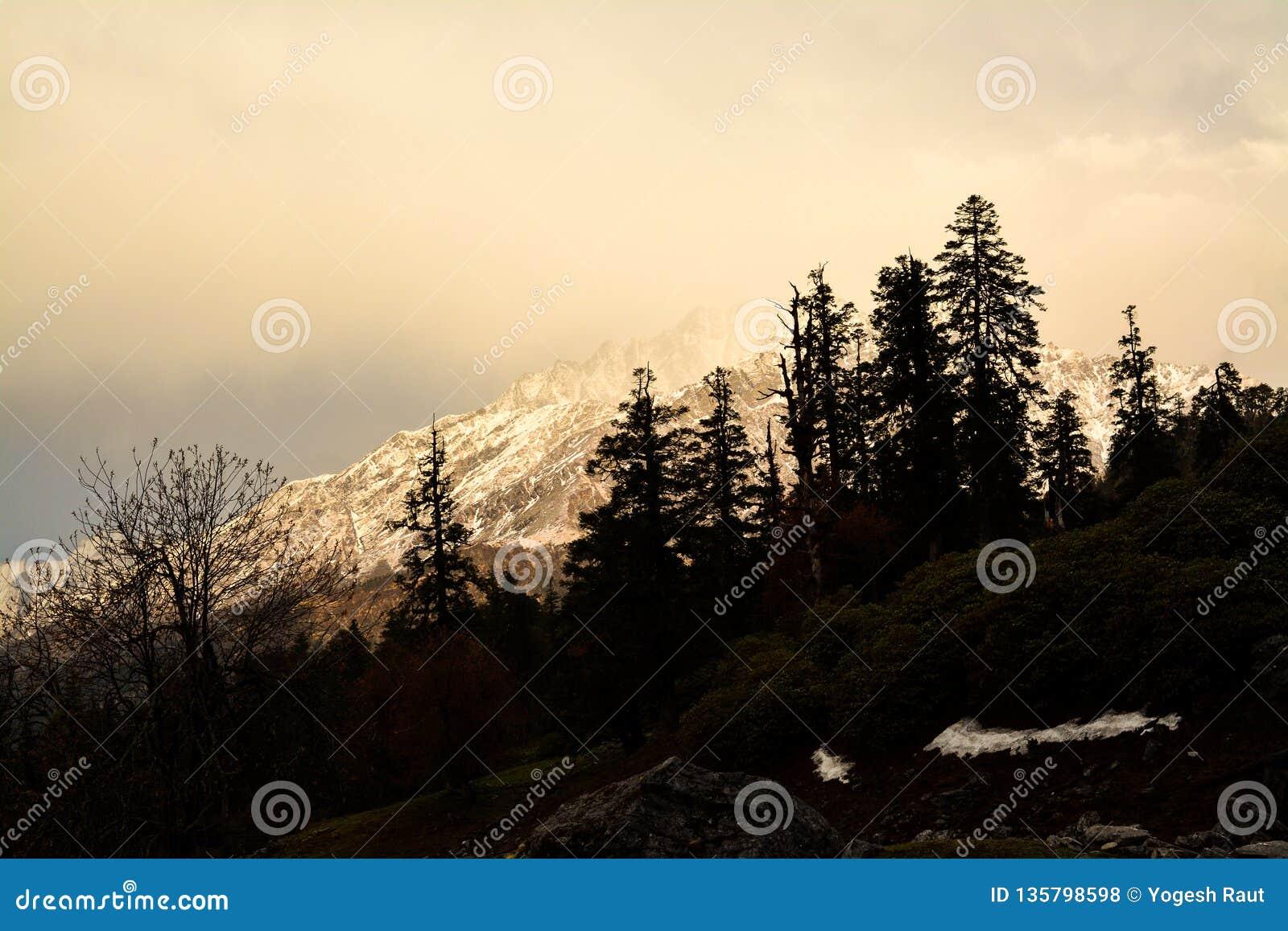 Igualación de colores en el Himalaya, la India