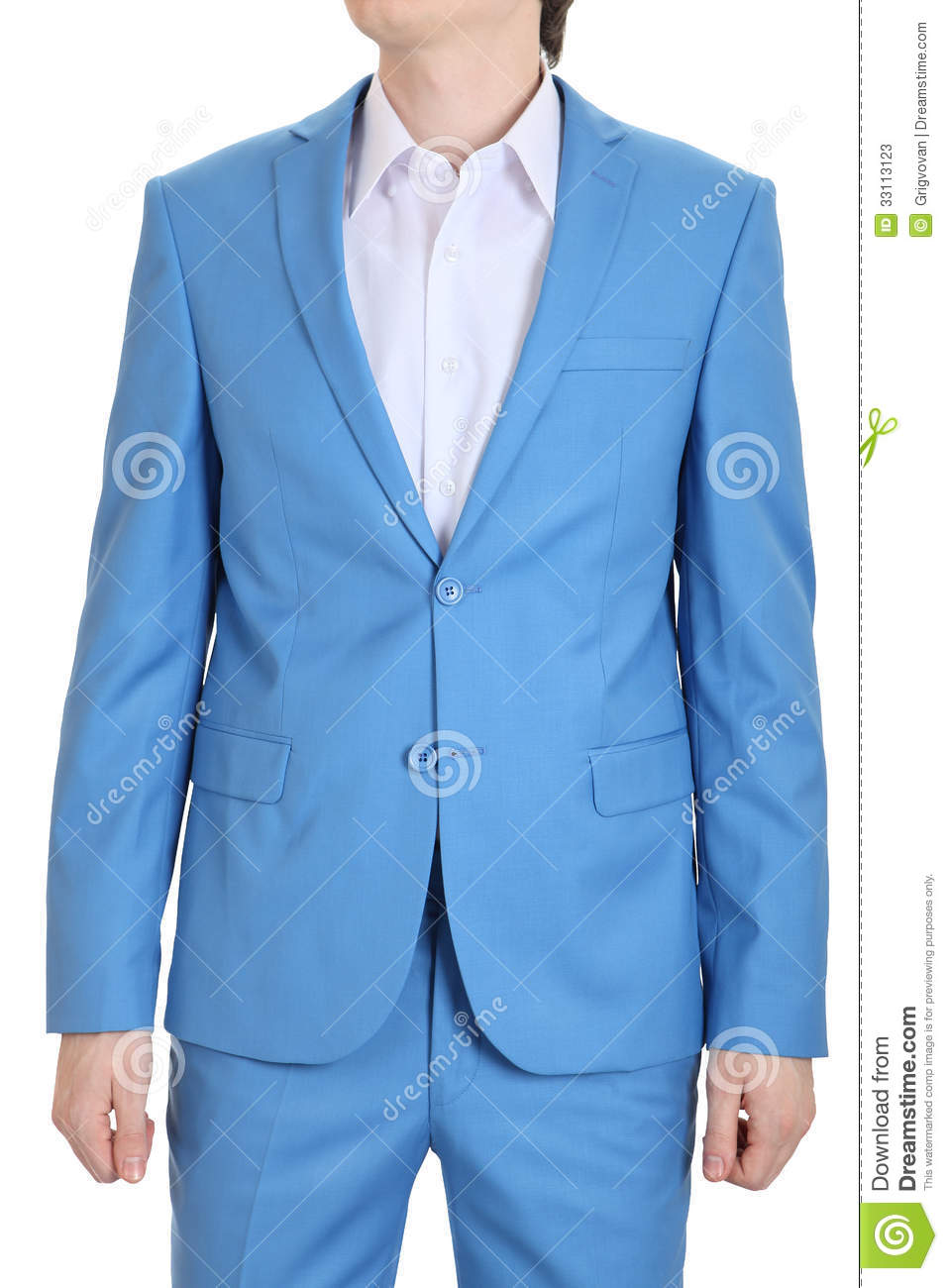 Trajes De Baño Color Turquesa:Sky Blue Men Dress Suit