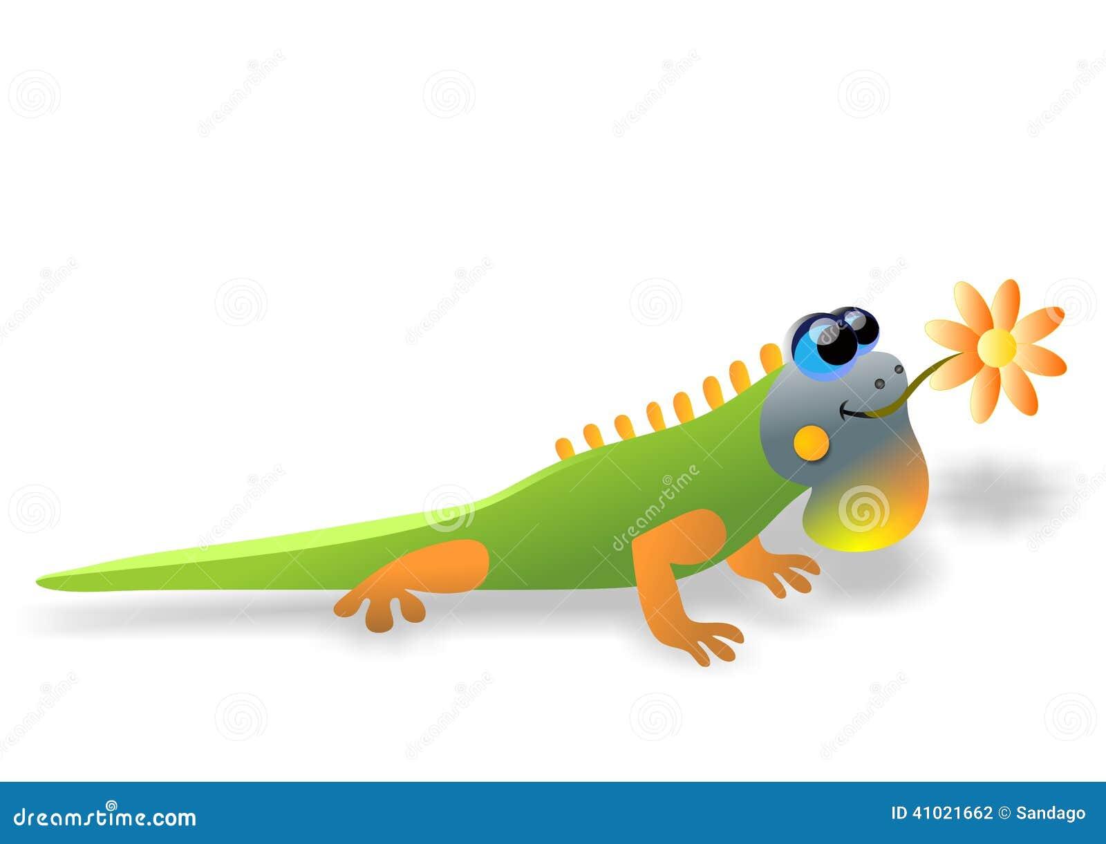 Iguana Cartoon Stock Vector Image 41021662