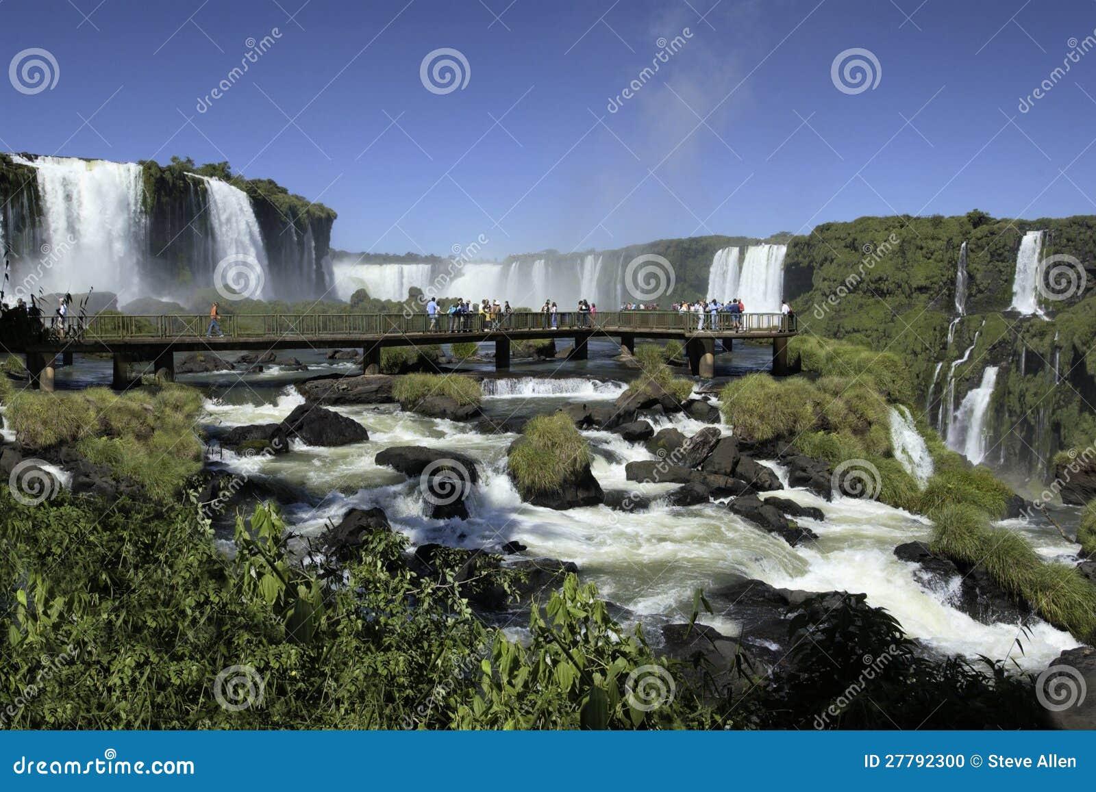Iguassu Falls on the Brazil Argentina border