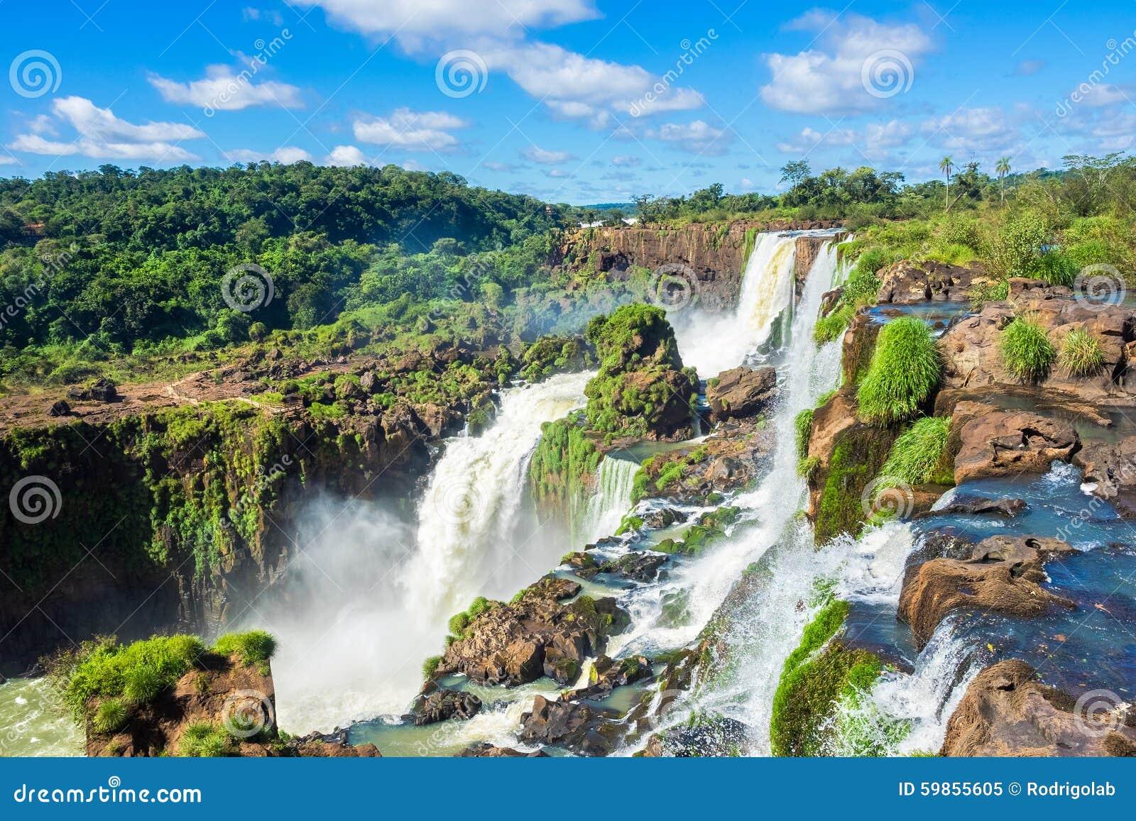 Iguazu Falls, on the Border of Argentina, Brazil, and Paraguay