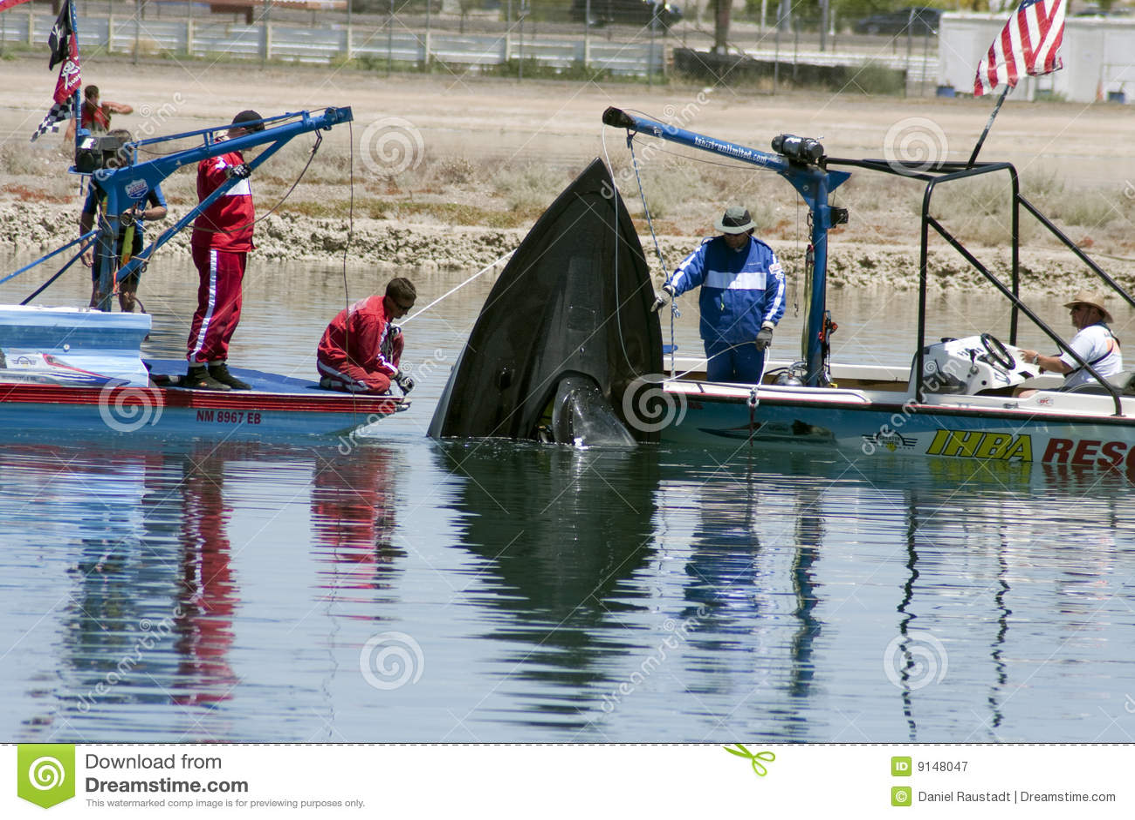 IHBA Hydroplane Boat Crash Rescue