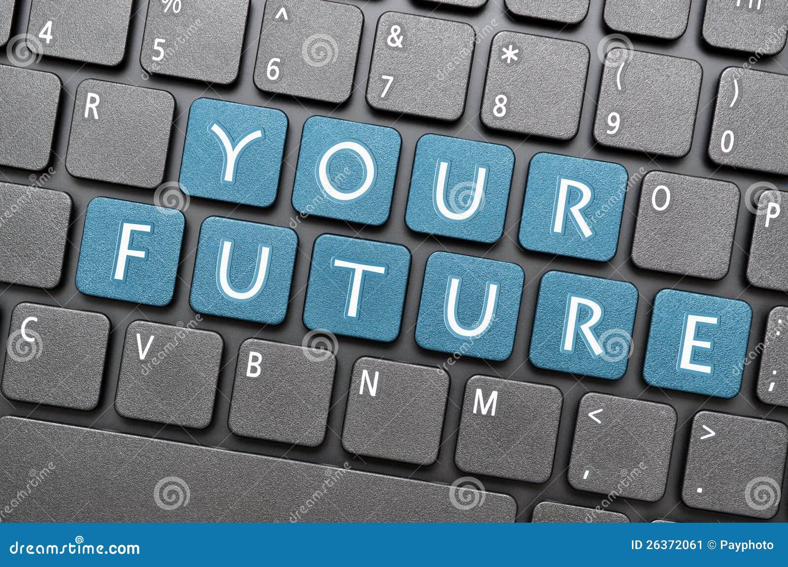 Ihre Zukunft auf Tastatur