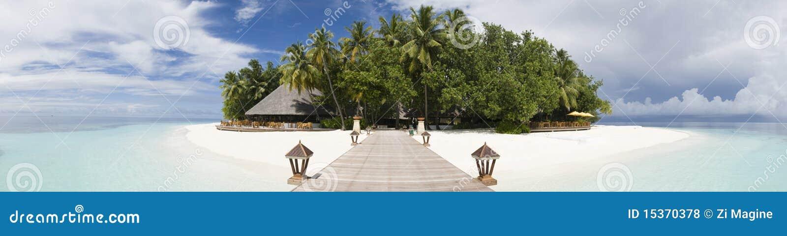 Ihuru Insel Maldives panoramisch
