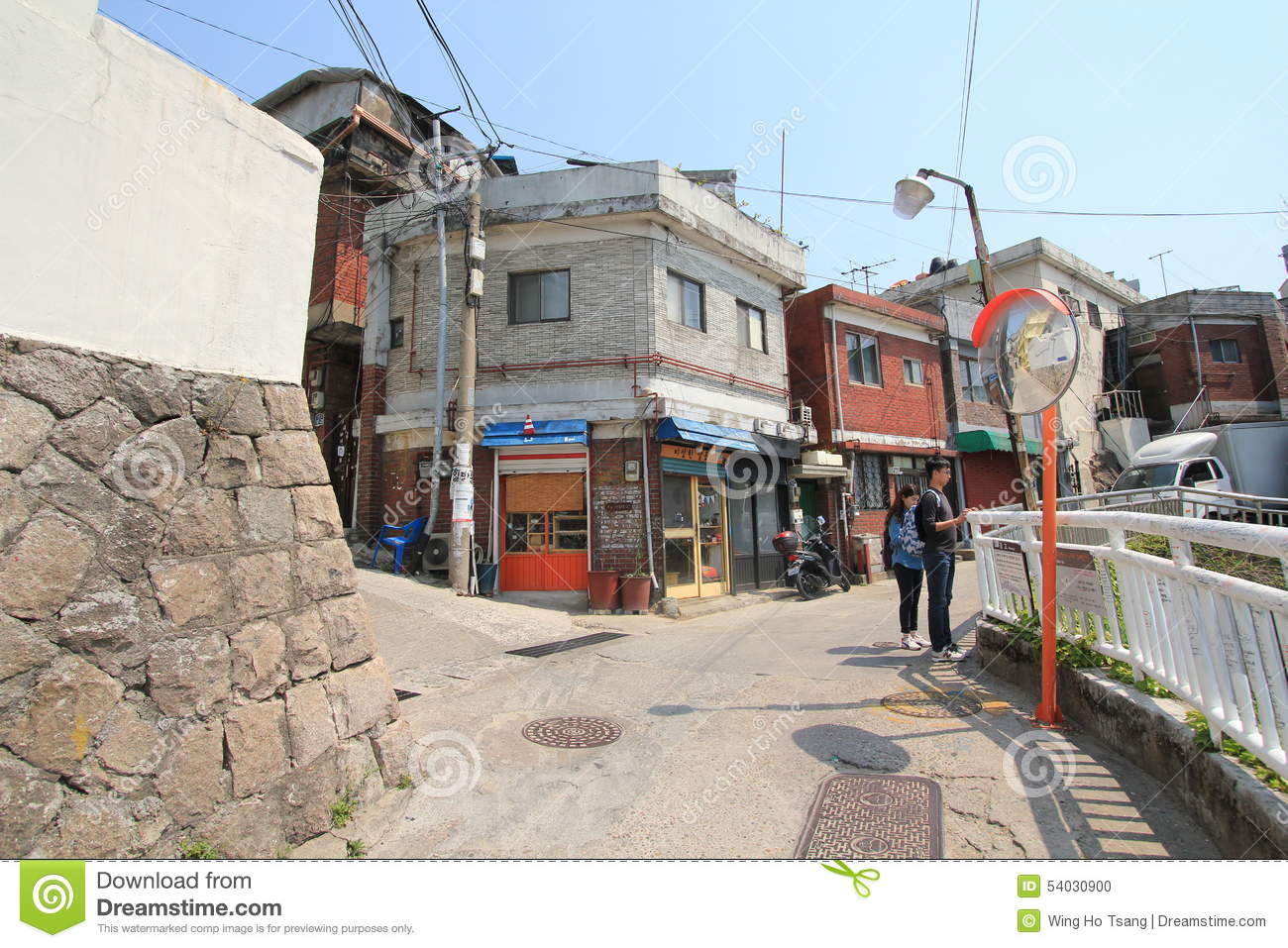 Ihwa mural village in seoul editorial image image 54030900 for Mural village seoul