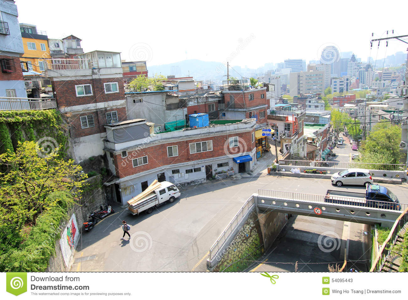 Ihwa mural village in seoul editorial stock photo image for Mural village seoul