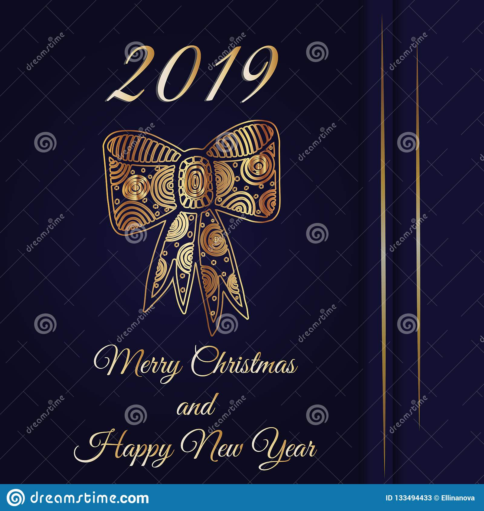 iinvitation card with 2019 number for christmas or new year holiday luxury gold vintage frame victorian bannerbaroque style bookletfashion pattern