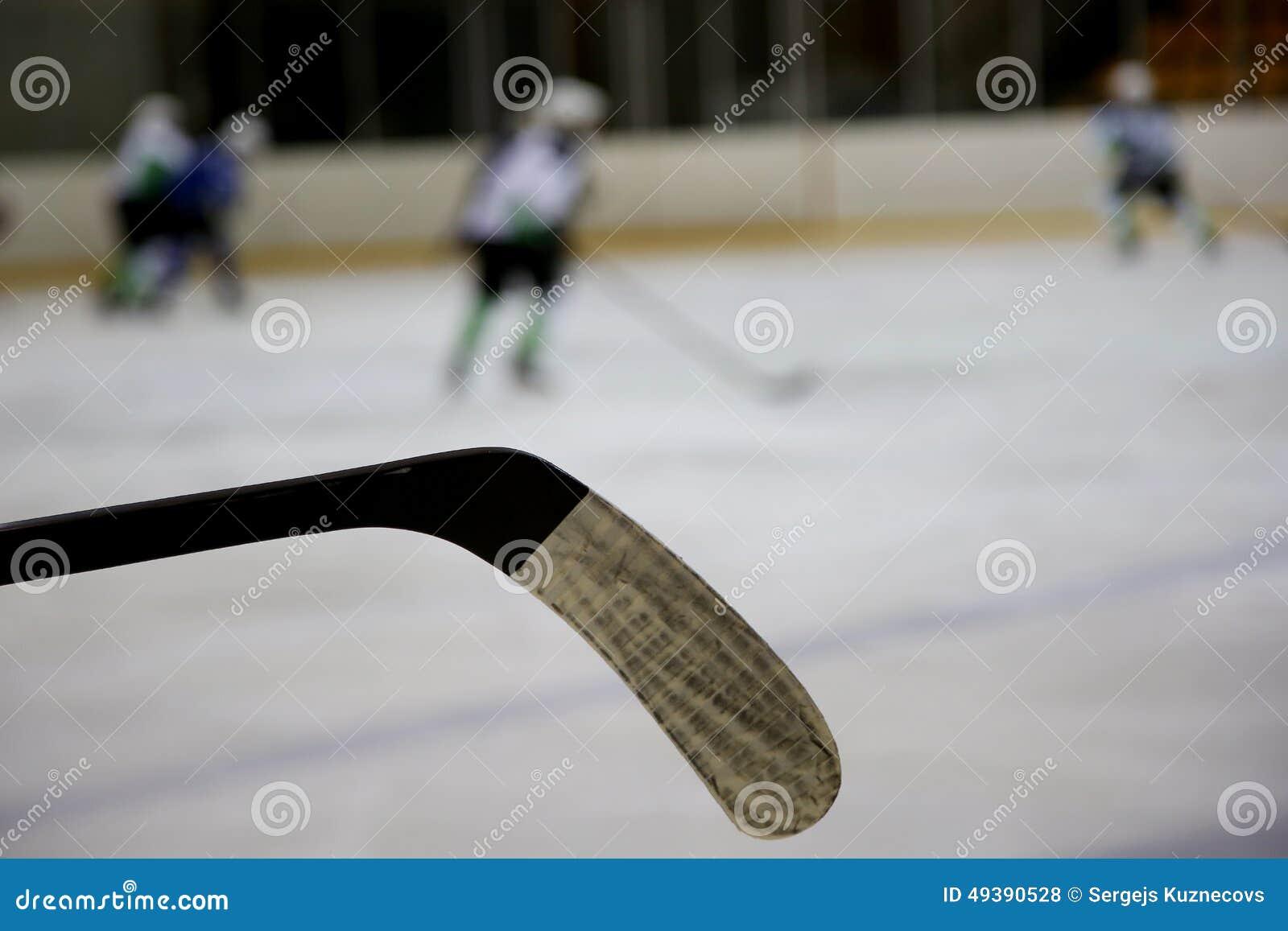 Ijshockeystok en ijshockeyspelers