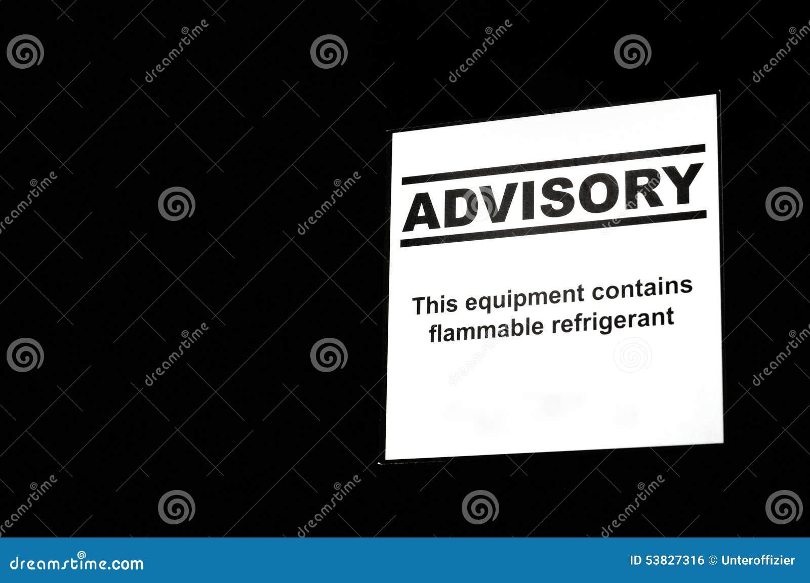 Ijskast Adviserend Etiket