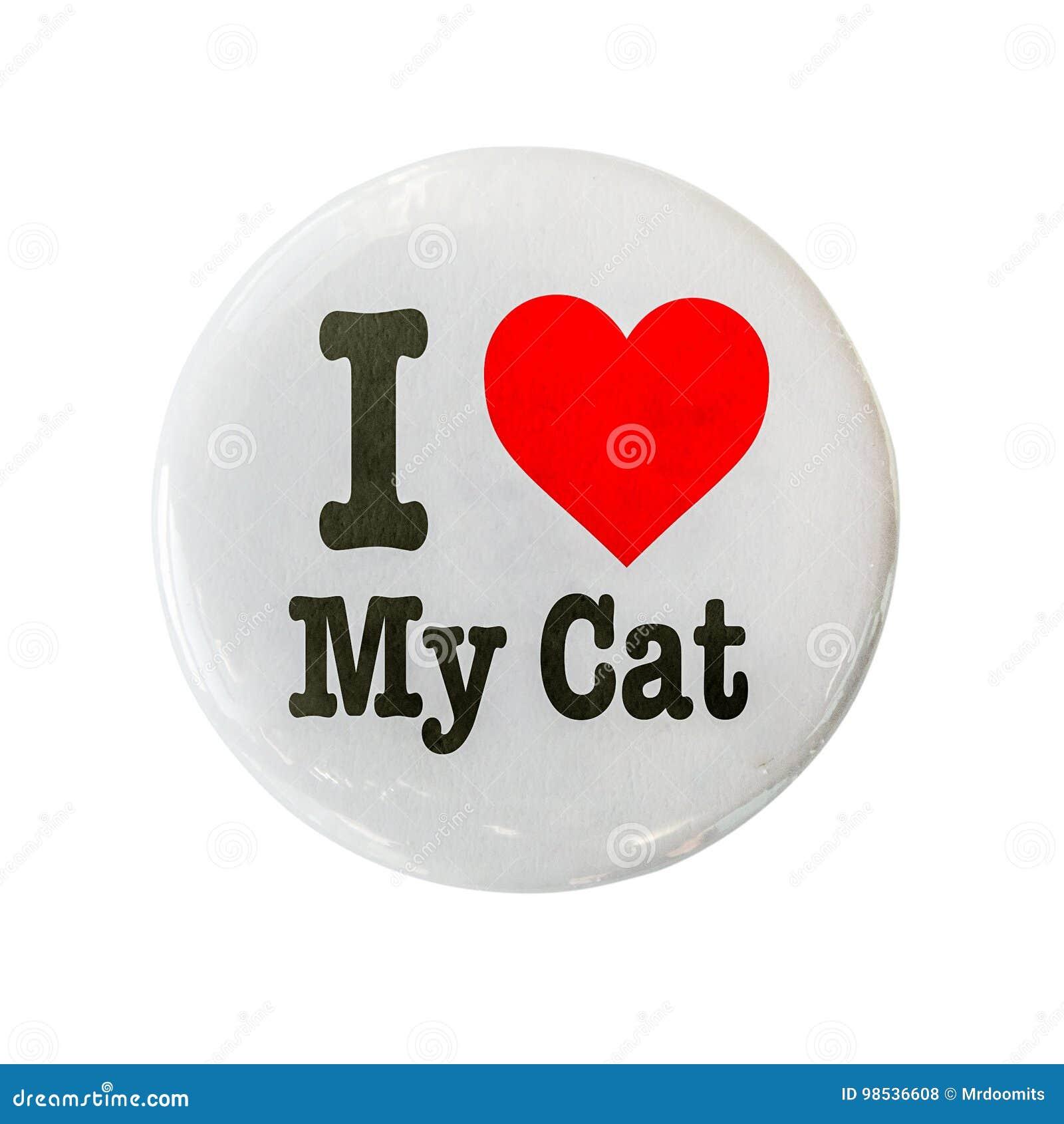 Ik houd van Mijn Cat Badge