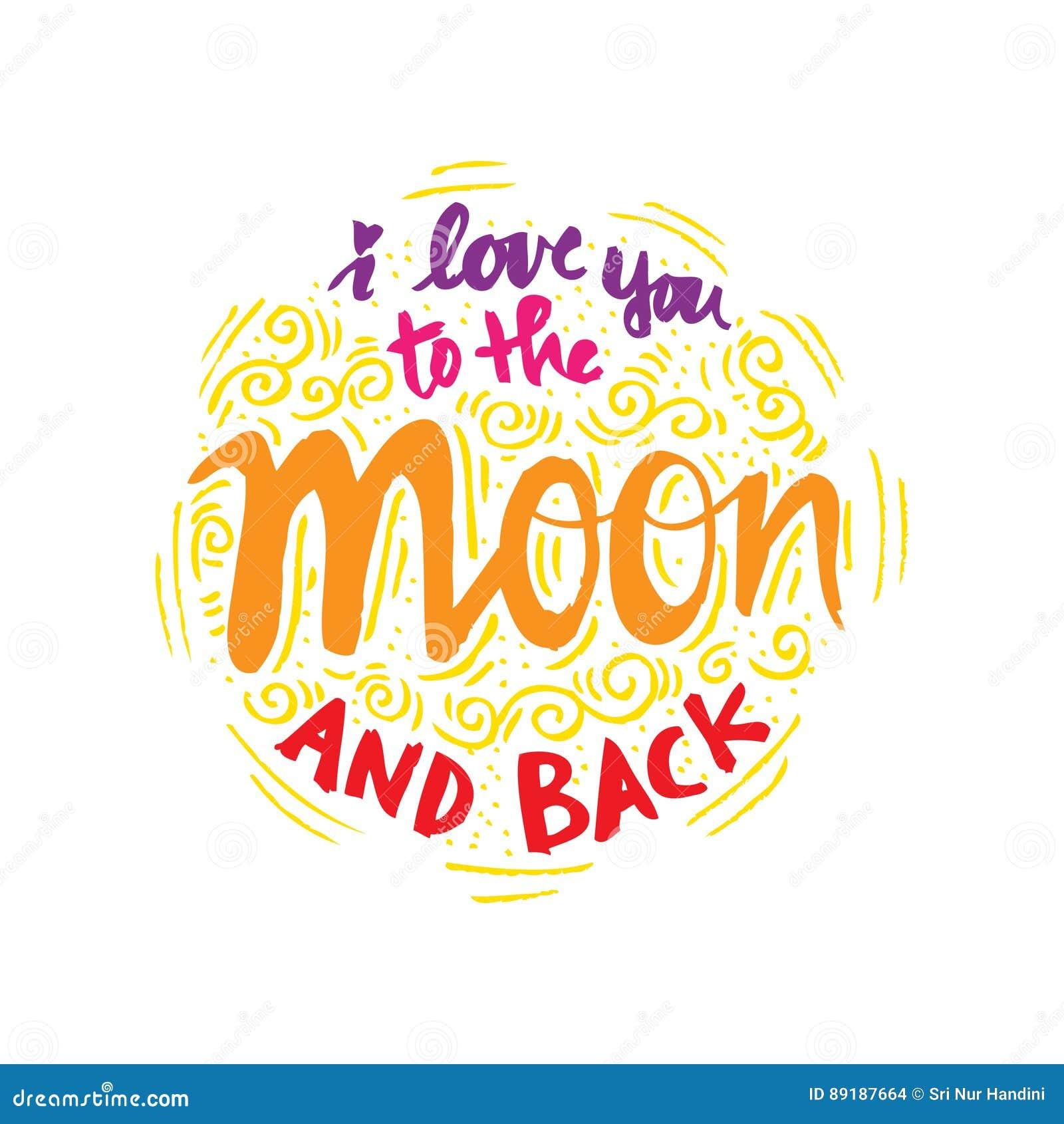 Ik houd van u aan de maan en de rug