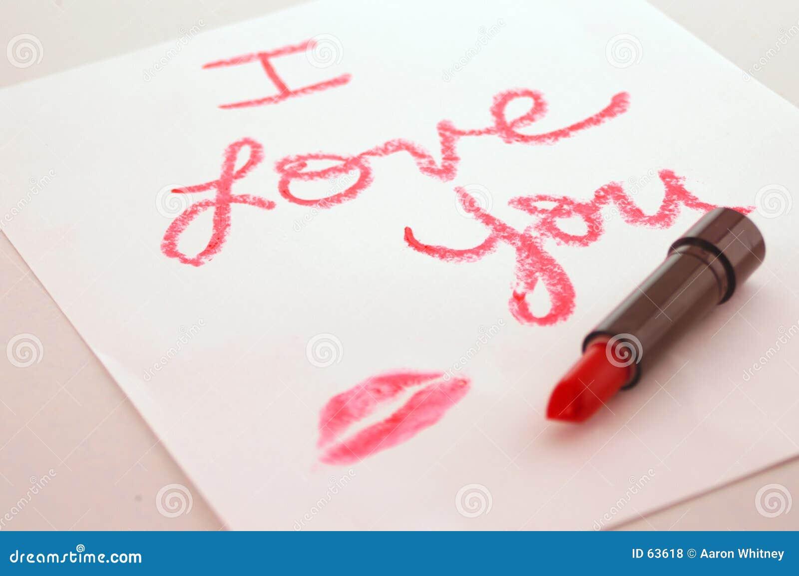 Ik houd van u lippenstift