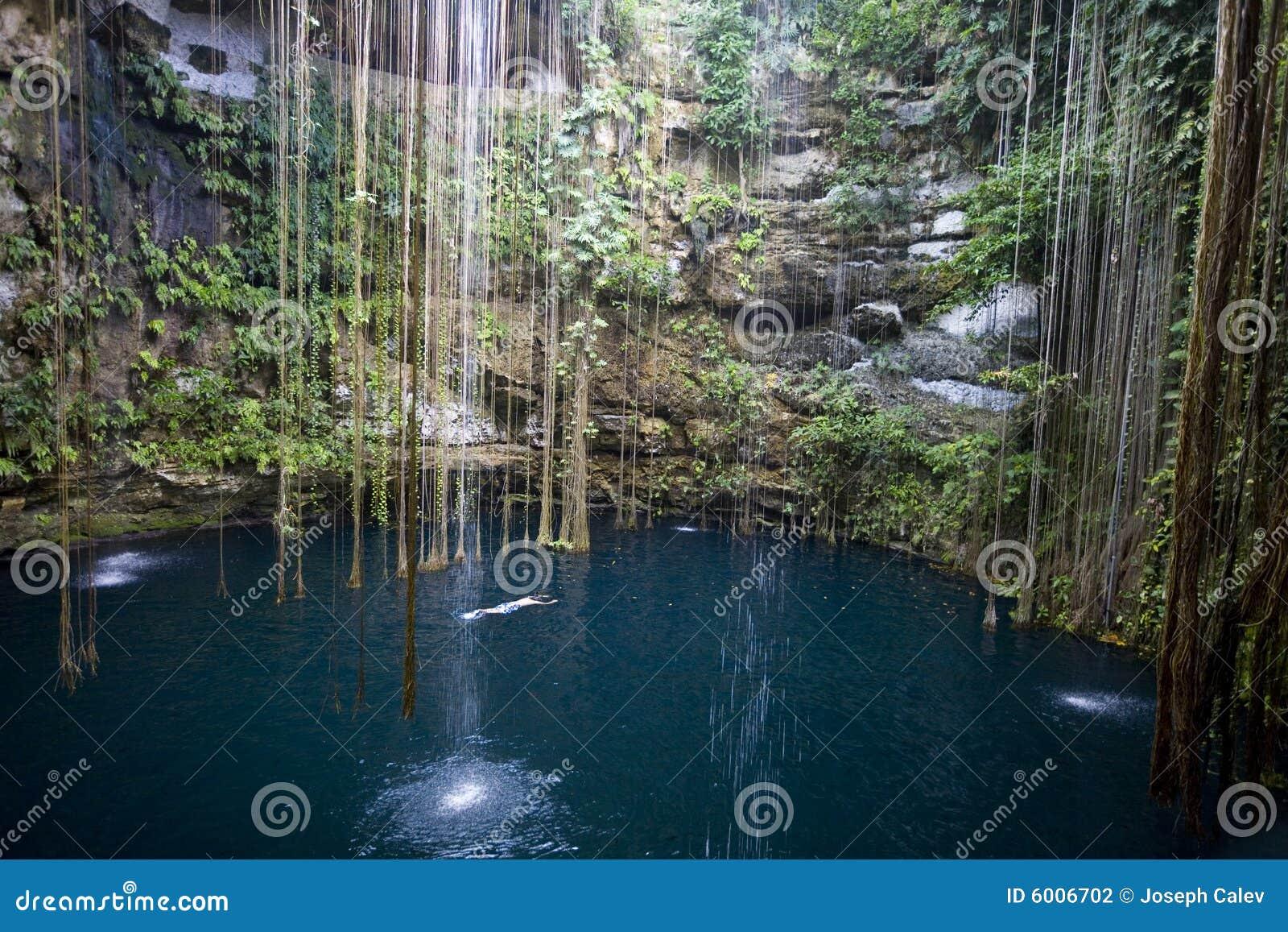 Ik-kil Cenote Yucatan Mexico Stock Photography - Image: 6006702