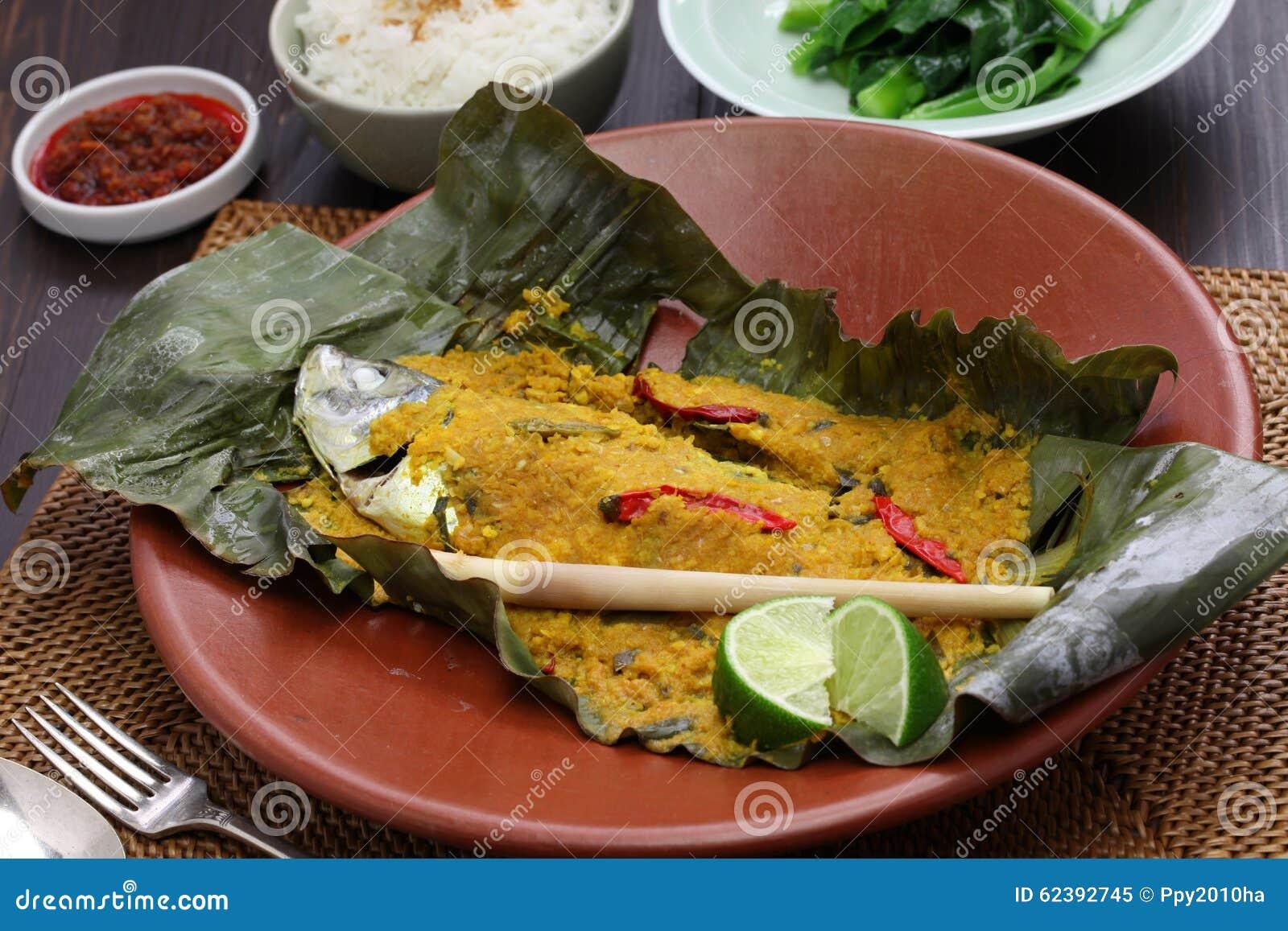 ikan-pepes, indonesische küche stockfoto - bild: 62392745